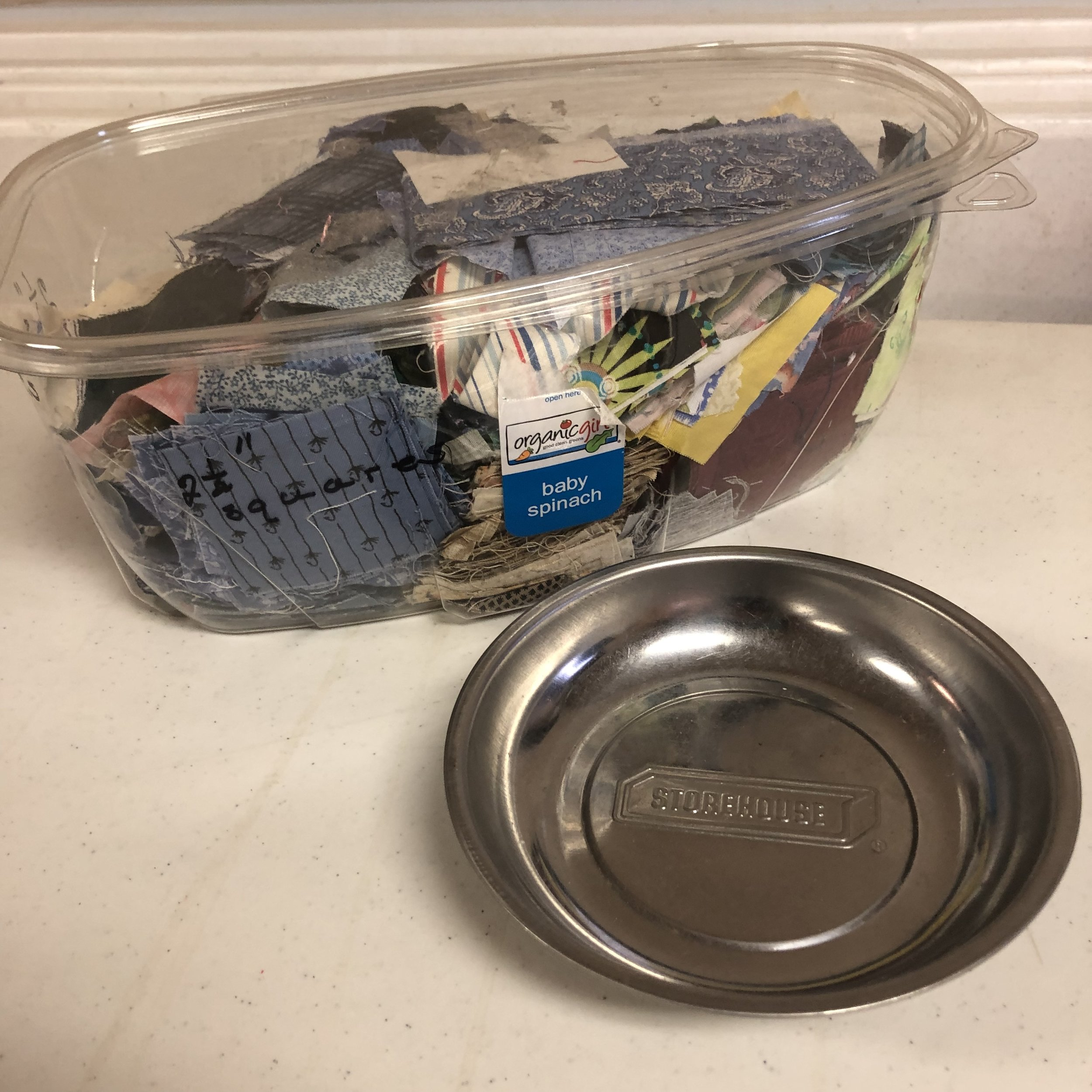 Upcycled Scrap Storage & Magnetic Pin Dish