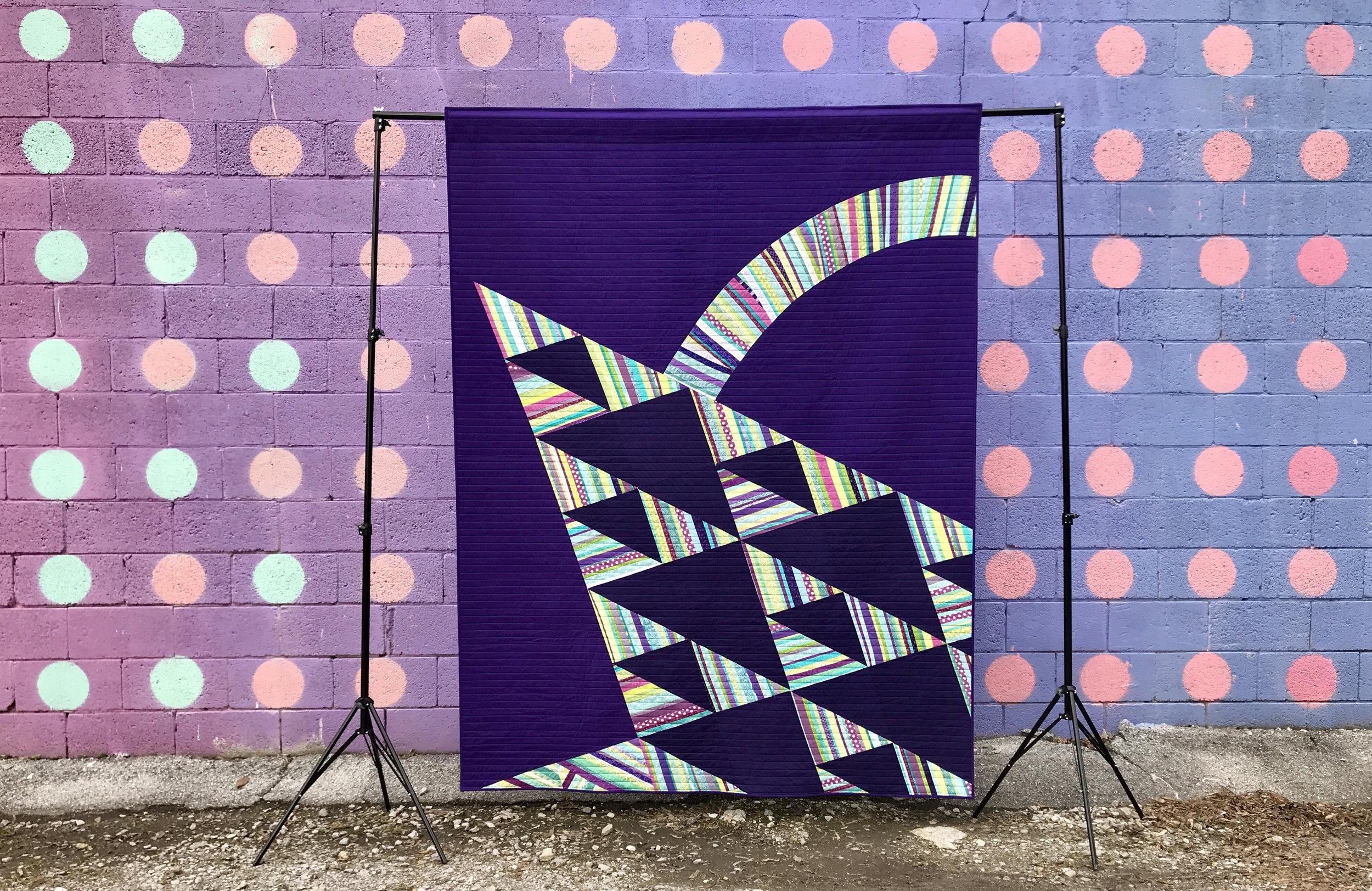 Modern Basket Quilt by Chattanooga Modern Quilt Guild