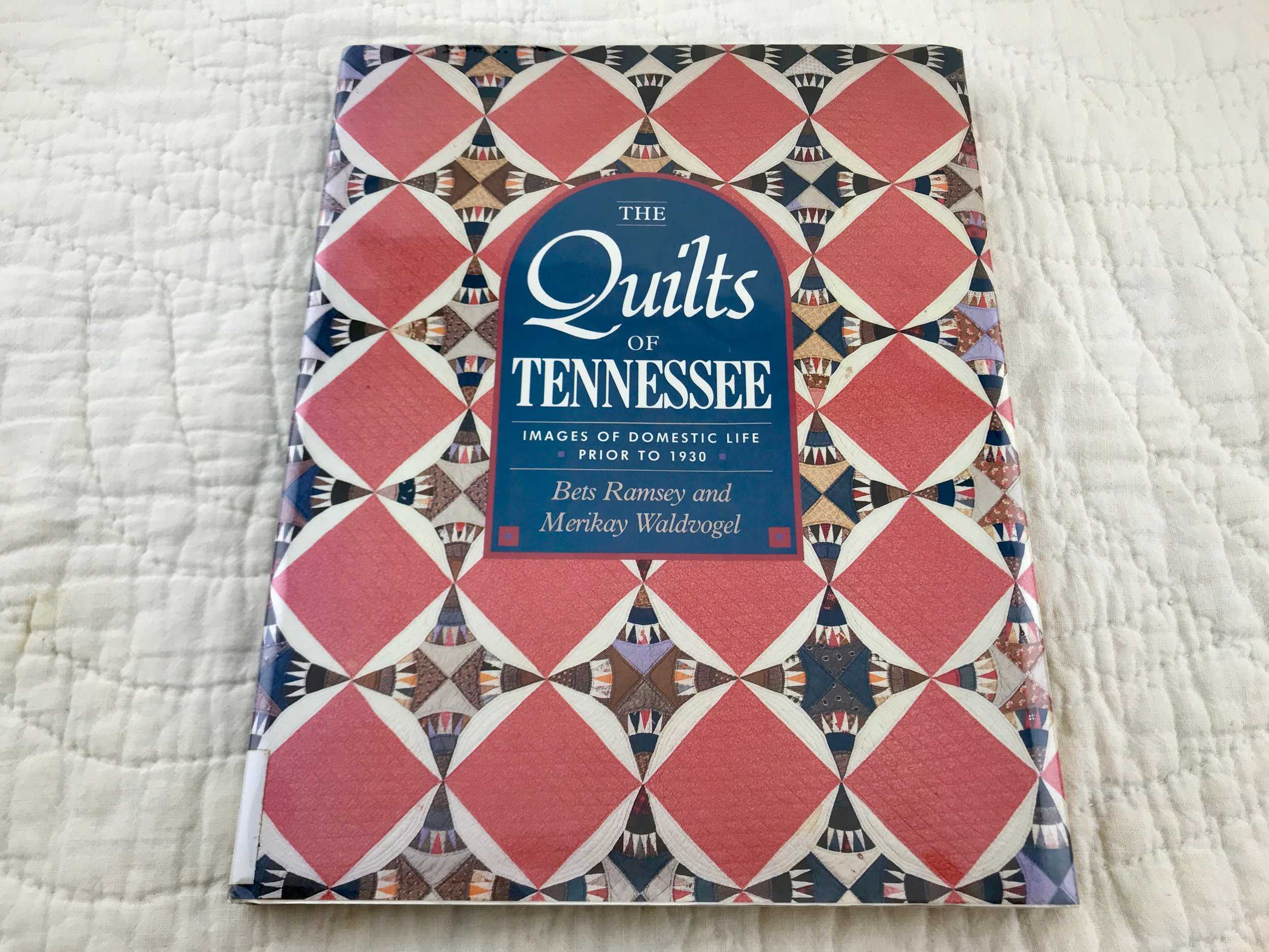 Our modern basket quilt design was inspired by an antique quilt in this book.