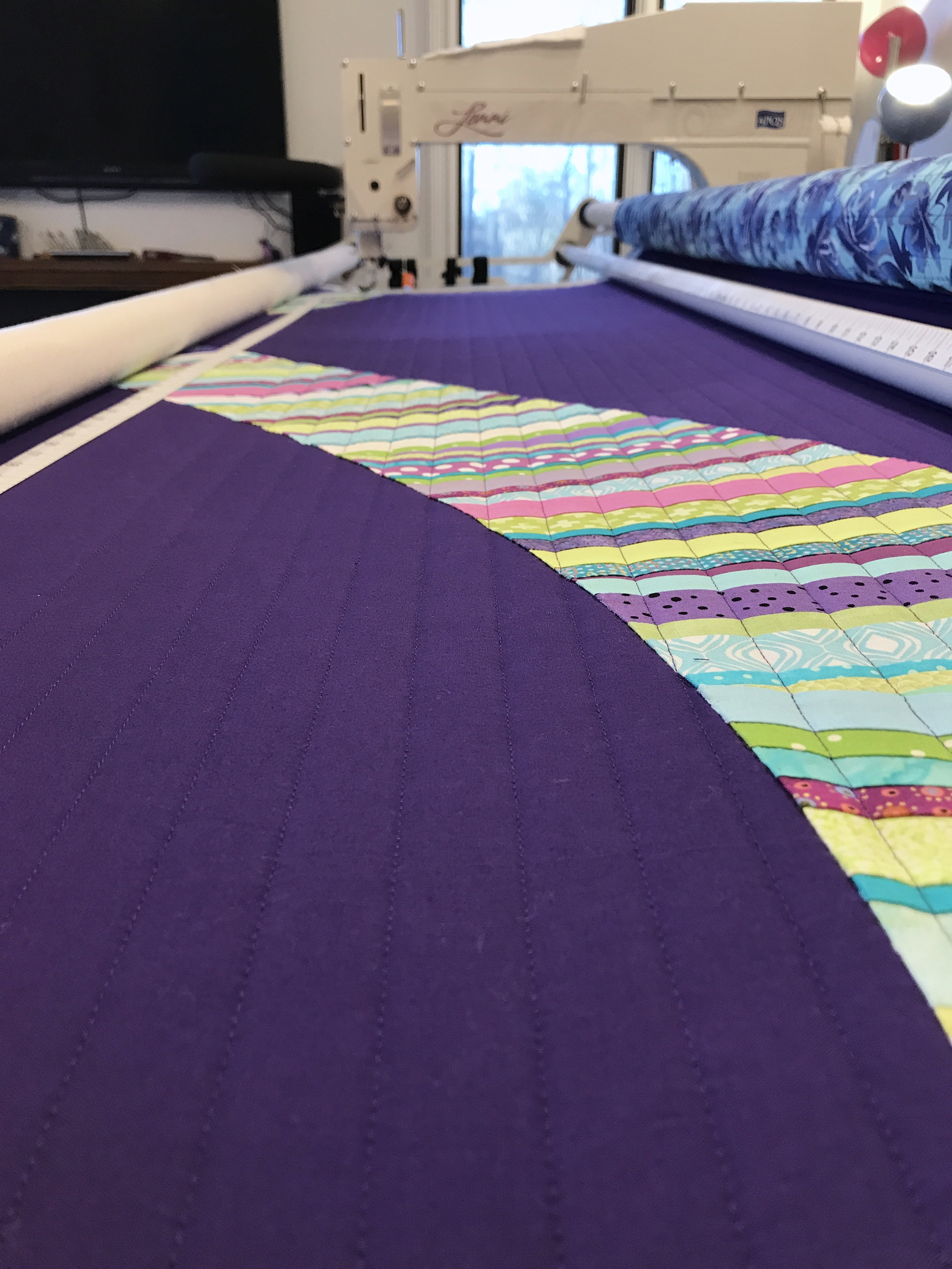 Simple, straight-line quilting.