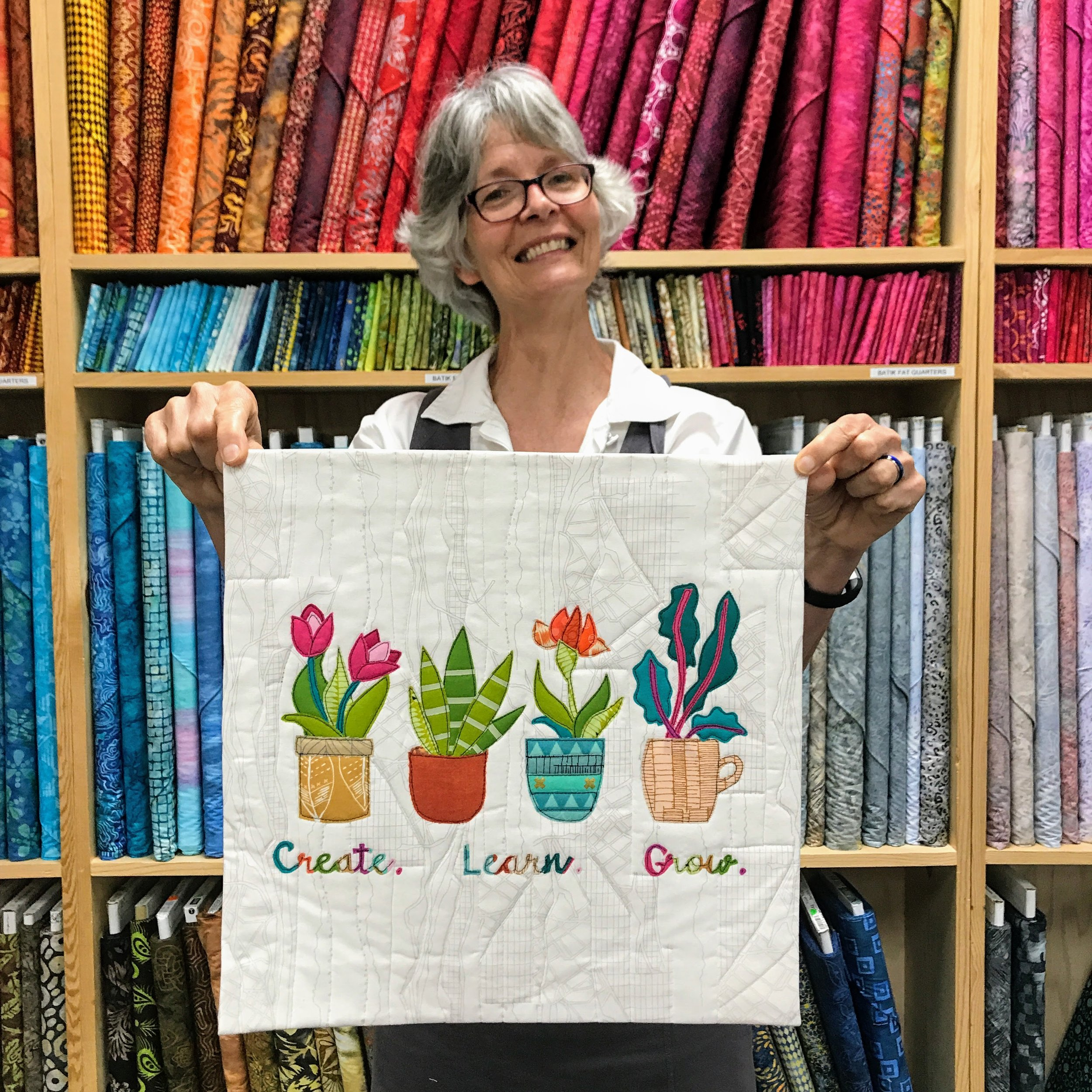 Audrey Workman made this quilt for Curated Quilts' mini quilt challenge.