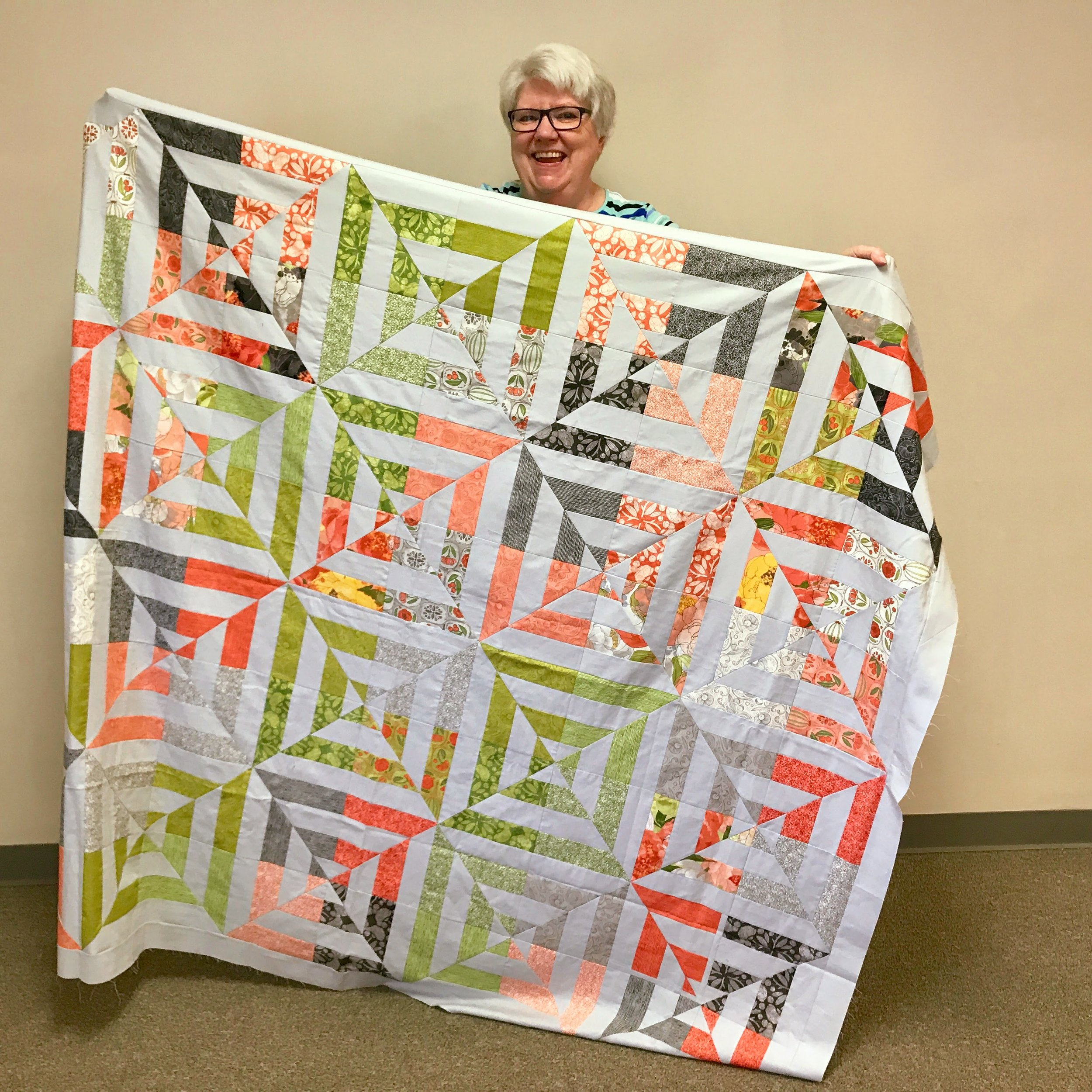 Quilt top by Jean Larson