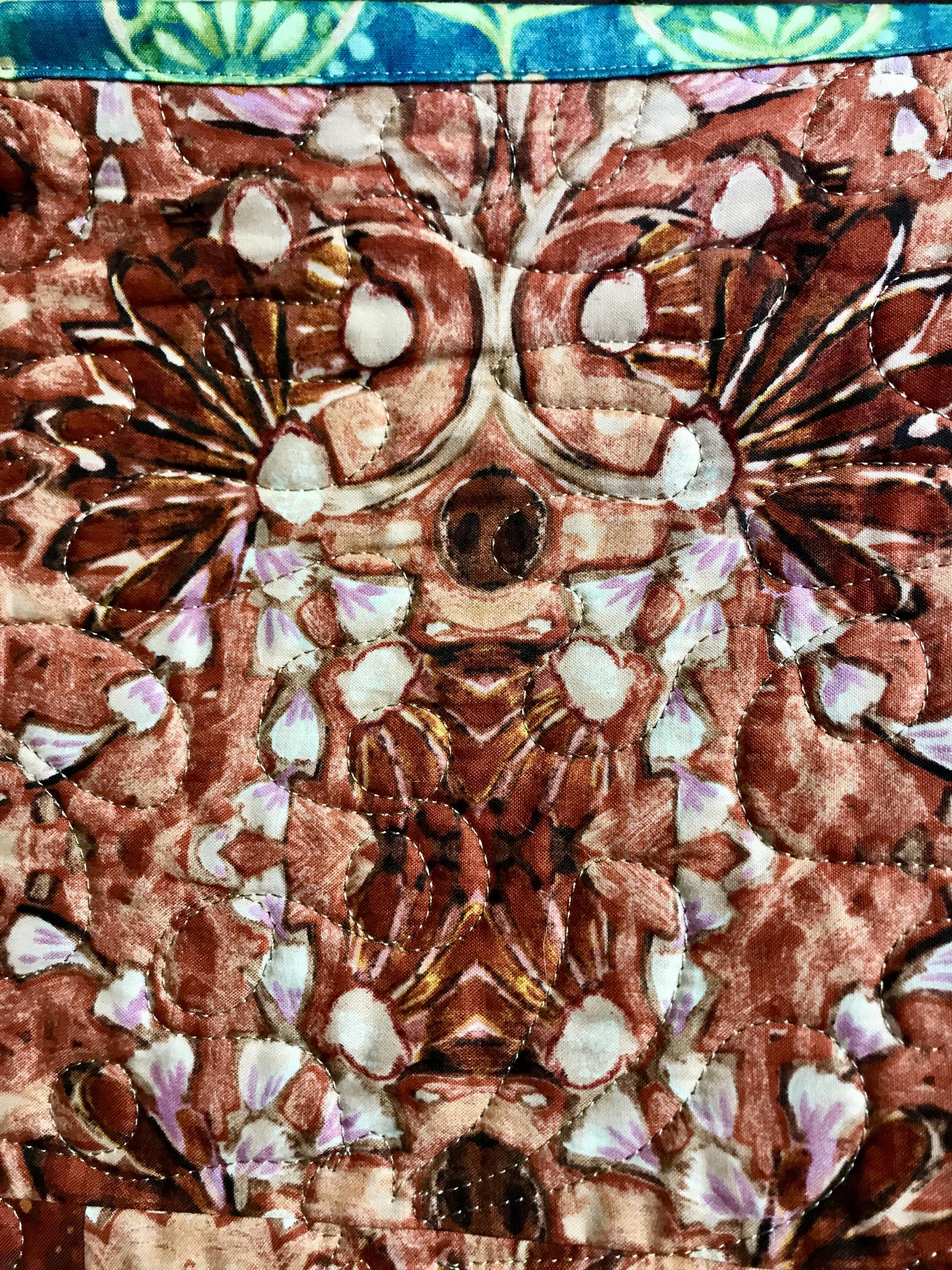 Detail shot of Jean Larson's quilt