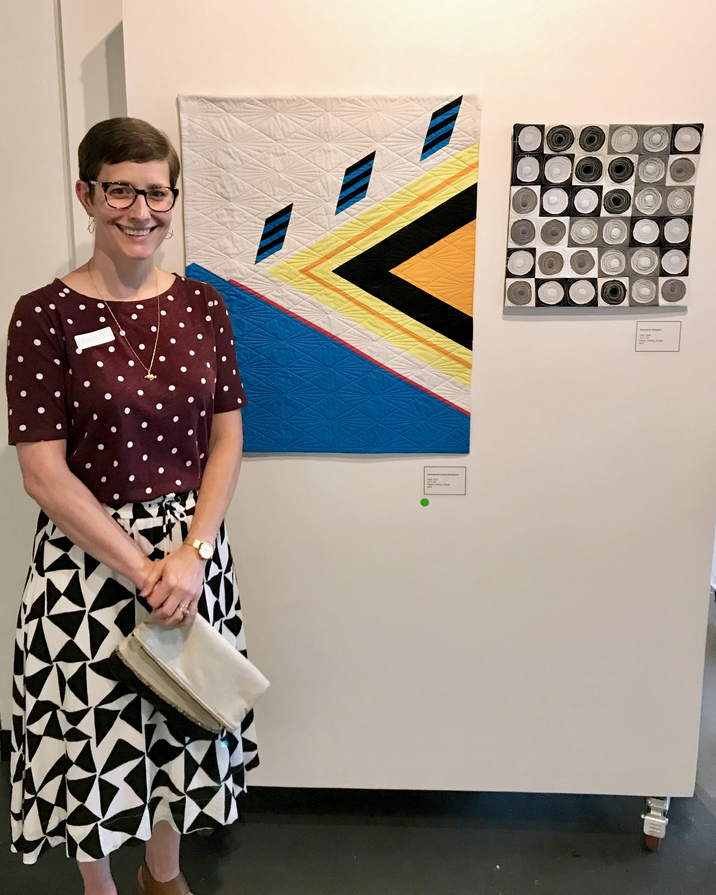 Kelly Spell and her quilts