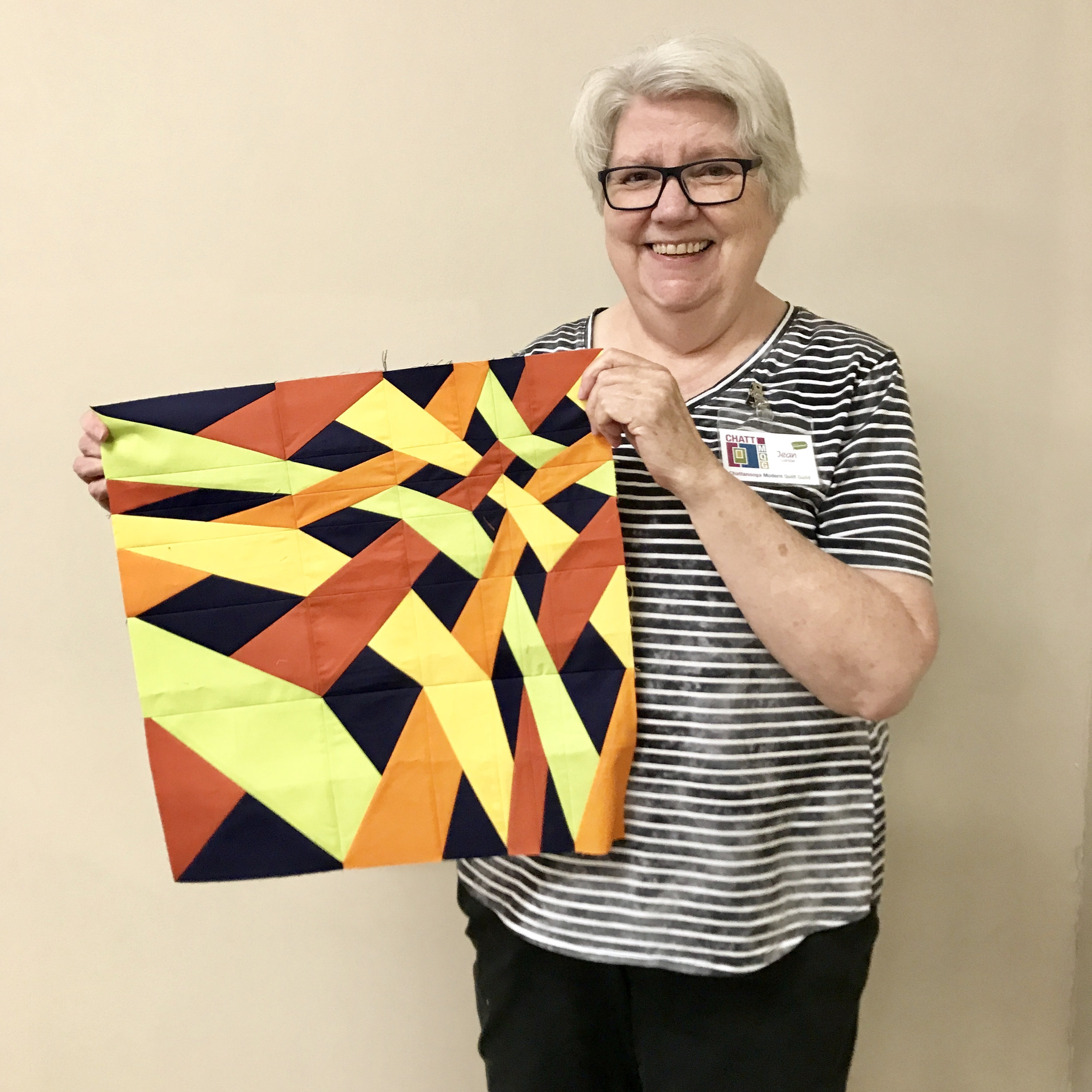 Quilt top designed by Jean Larson