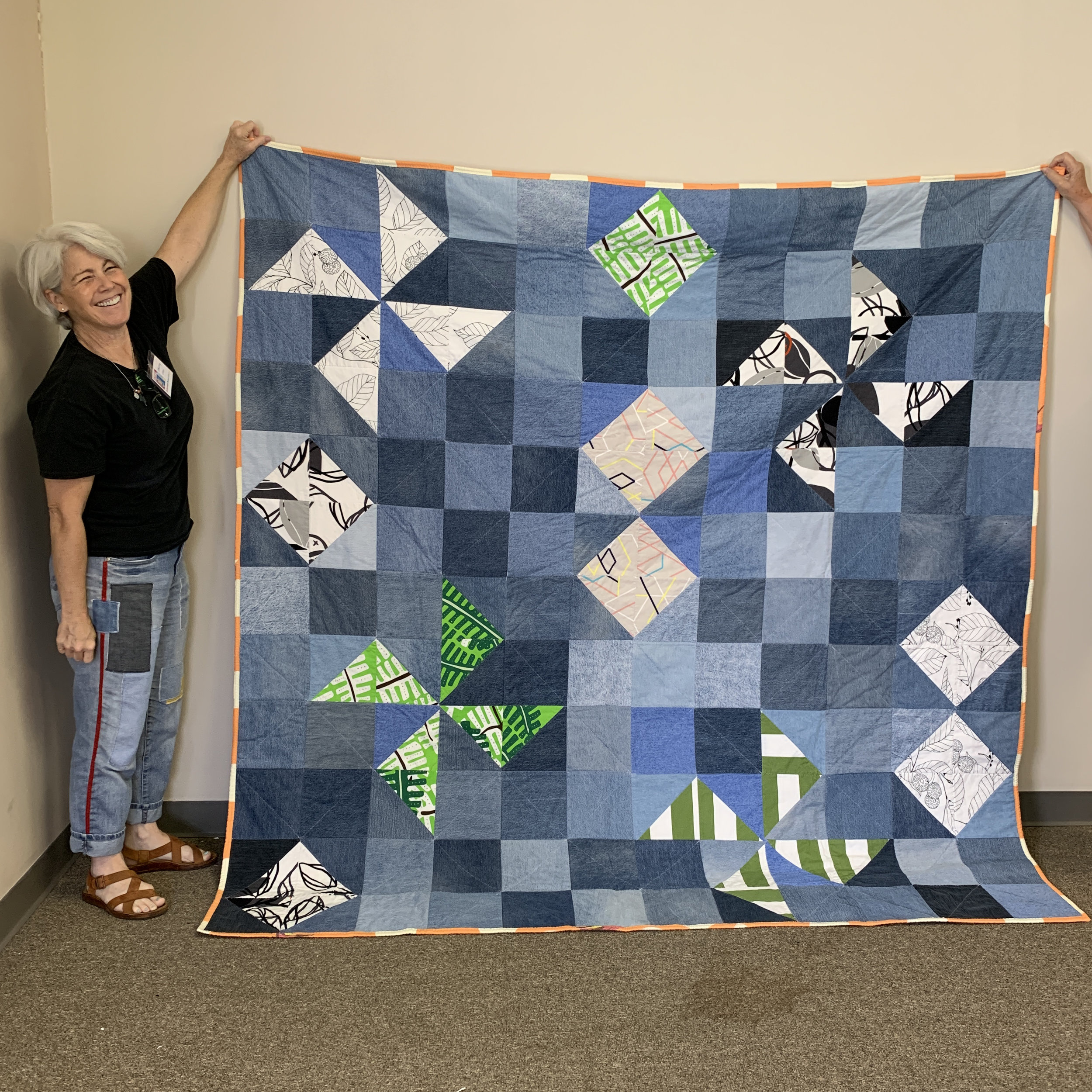 Denim quilt by Sherry Leary