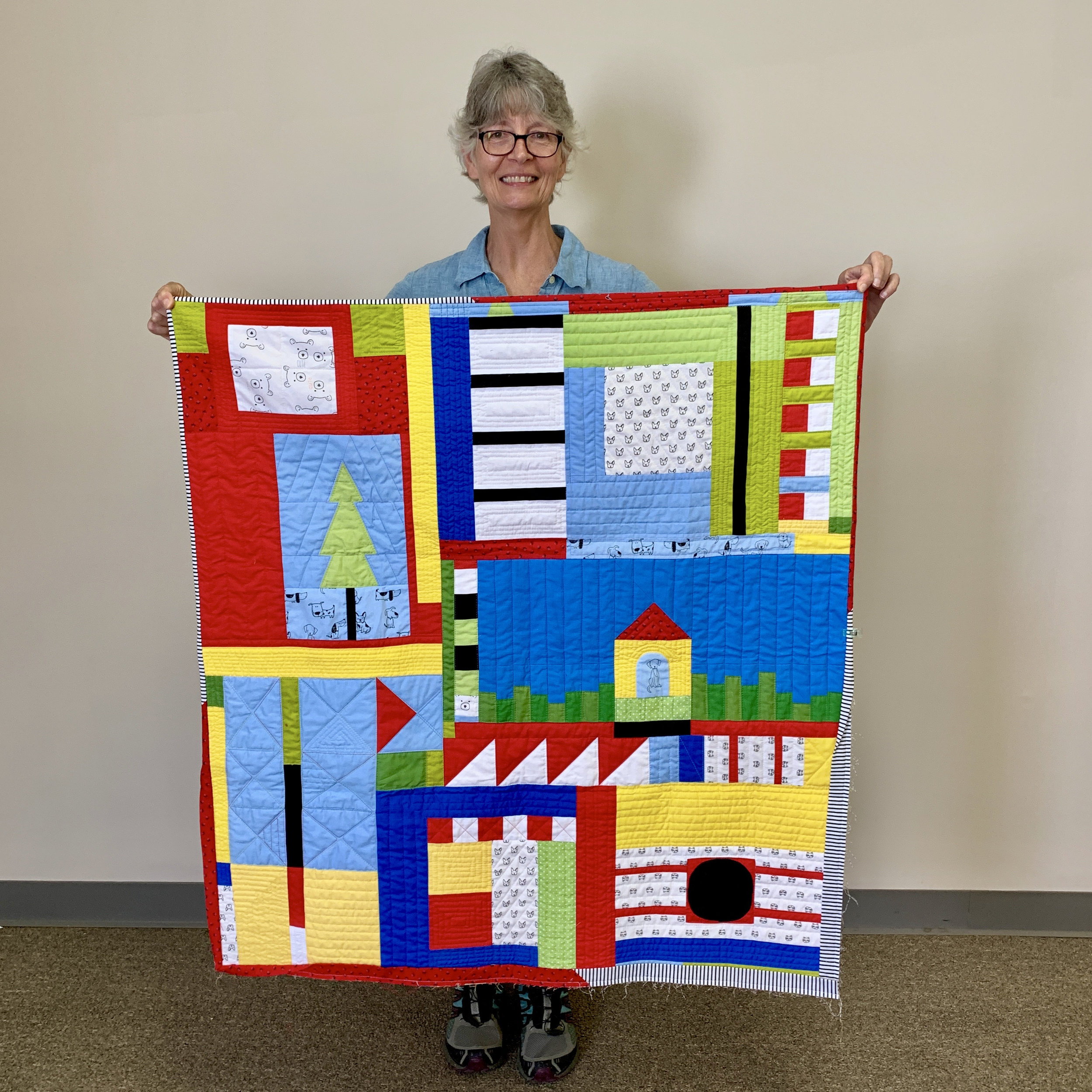 Baby quilt by Audrey Workman