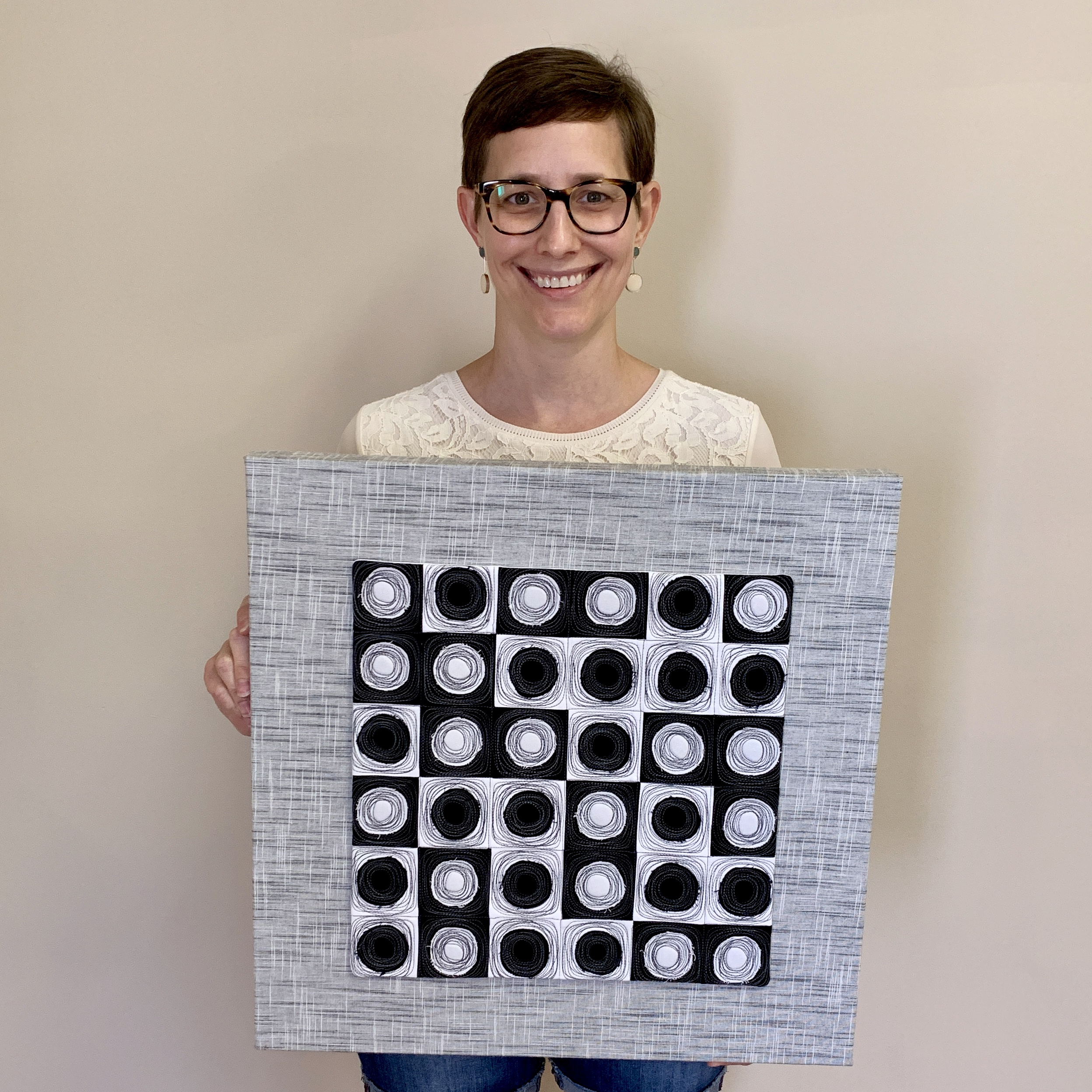 Mounted quilt by Kelly Spell