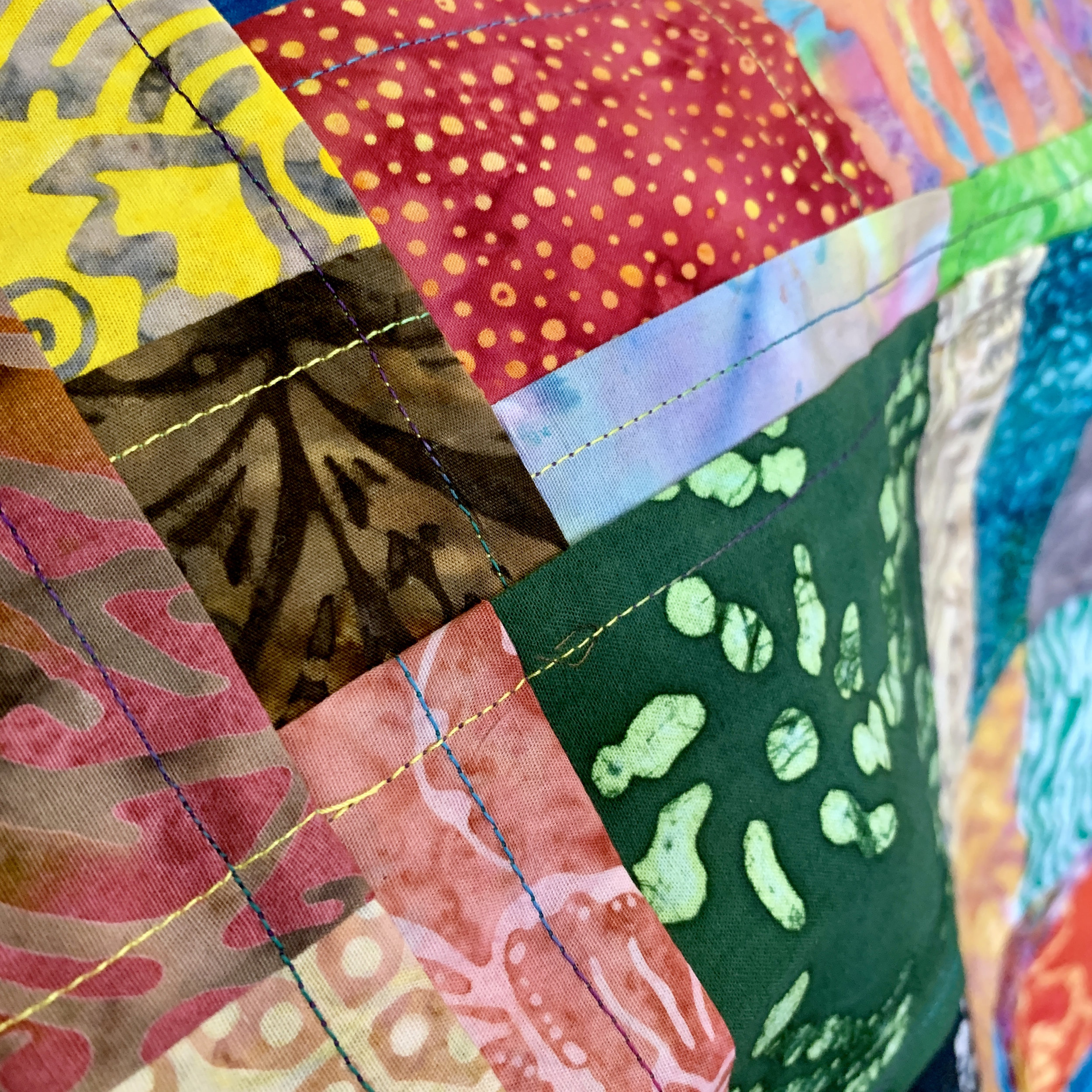 Detail of the quilt by Gail Johnson