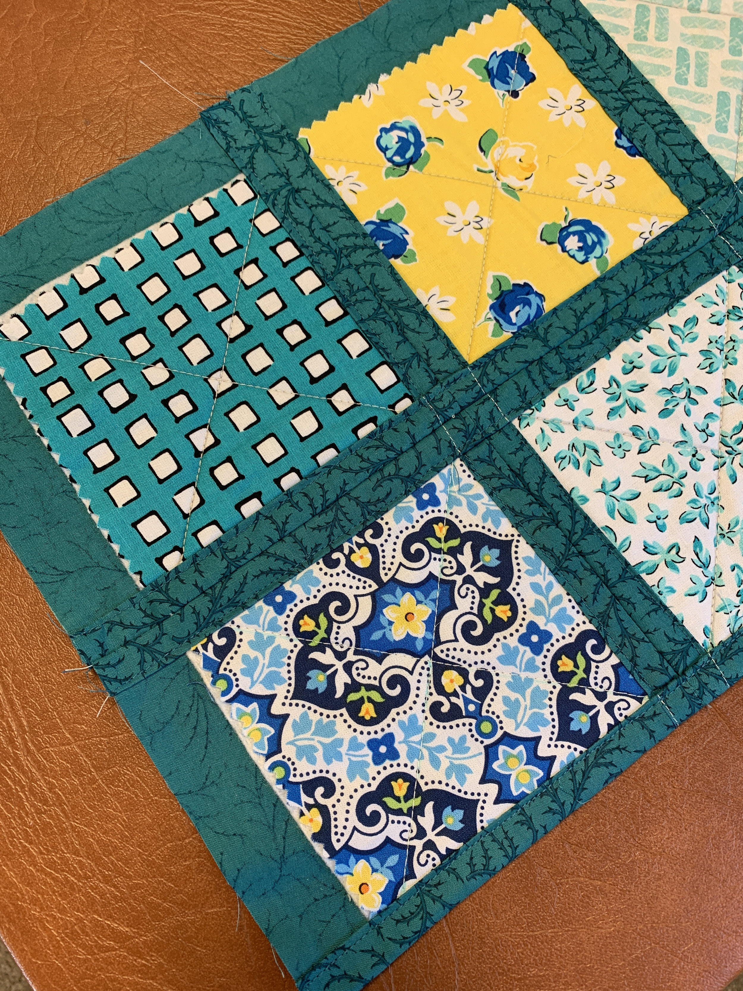 Use a flat felled seam to create durable, quilt-as-you-go projects.