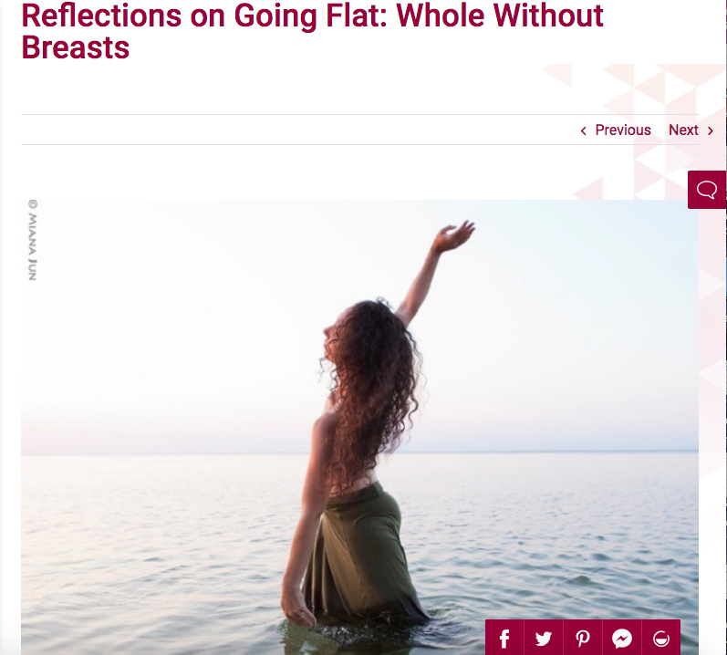 I'm Taking Charge: Reflections on Going Flat: Whole Without Breasts -