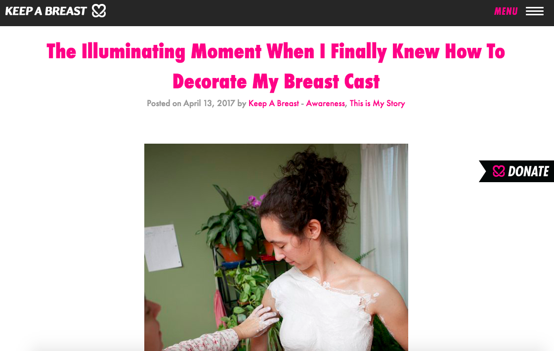 Keep A Breast: The Illuminating Moment When I Finally Knew How To Decorate My Breast Cast -