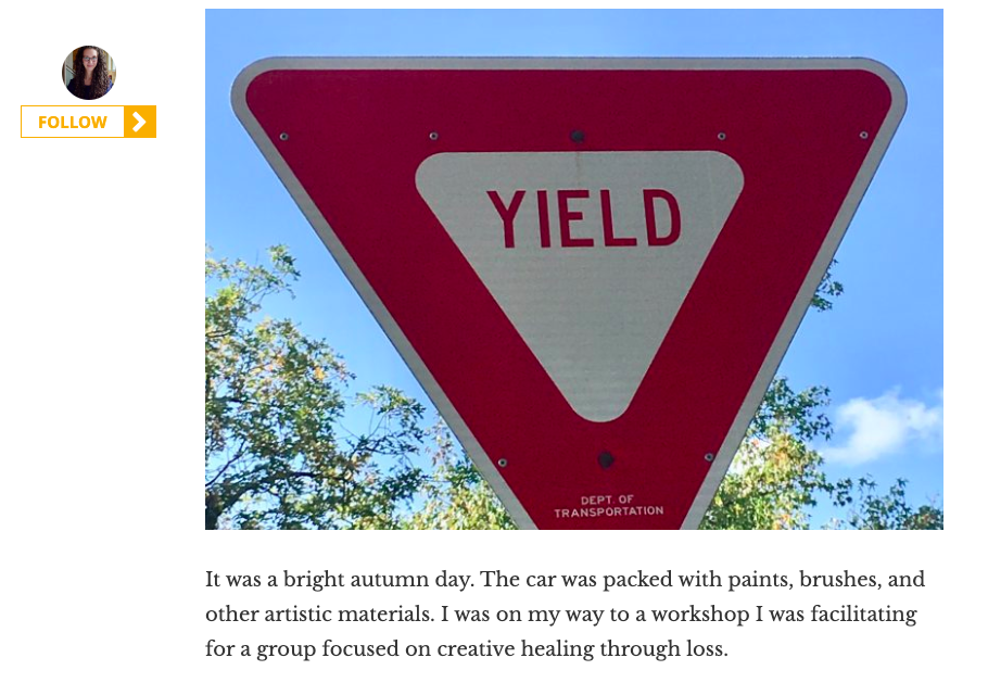 Elephant Journal:Yield: A Roadmap to the Here and Now—How Ordinary Signs Steer us Toward Mindful Moments -