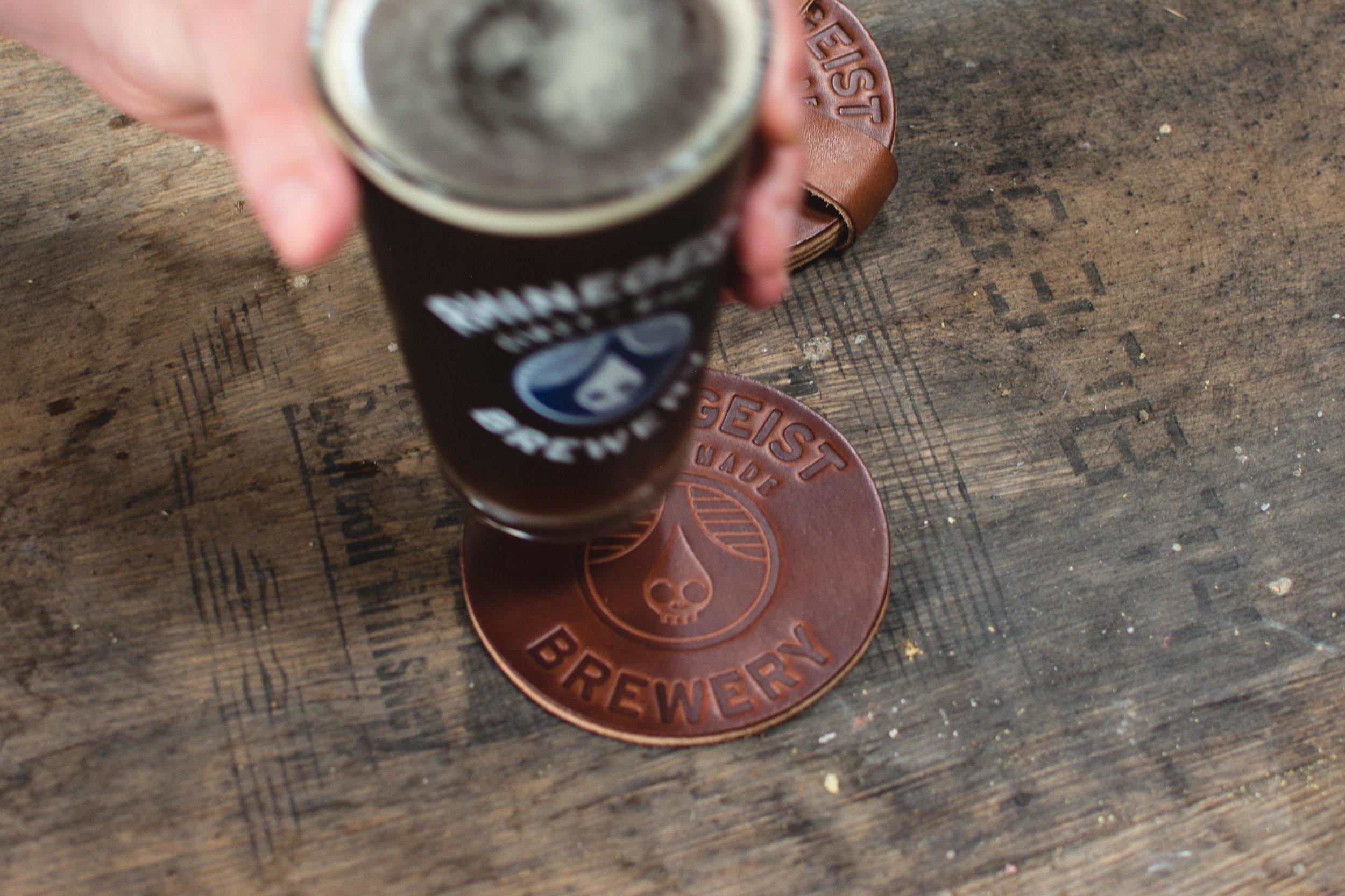 RHINEGEIST - A custom coaster project for Rhinegeist Brewery in downtown Cincinnati, Ohio.