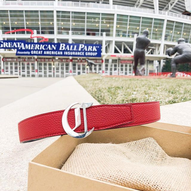 In honor of Opening Day! We had the privilege of working with the @reds and Kromboltz Jewelers to make some amazing belts to commemorate the 150th anniversary of the Reds!
