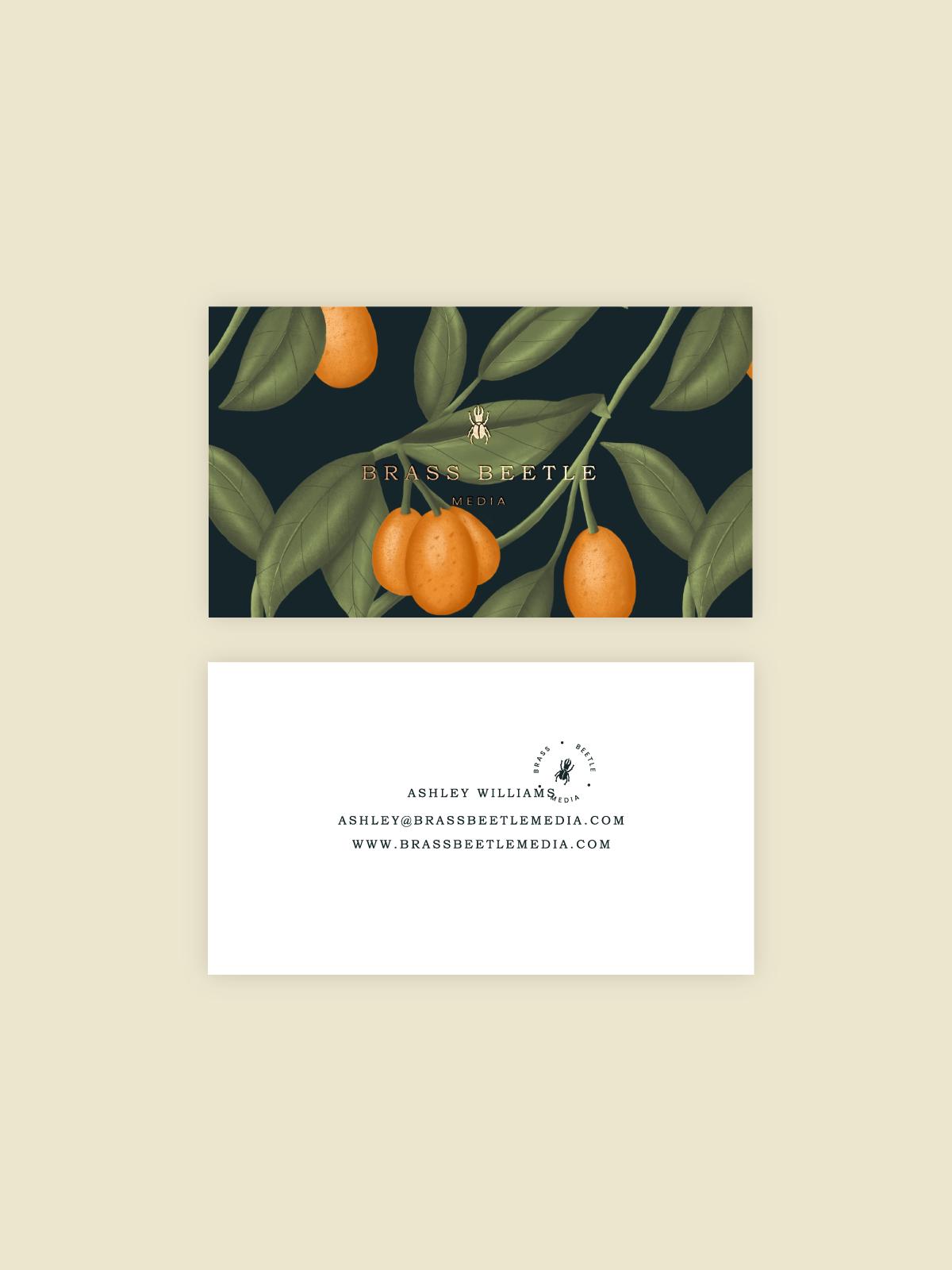Brass Beetle Media Custom Brand Design by Viola Hill Studio