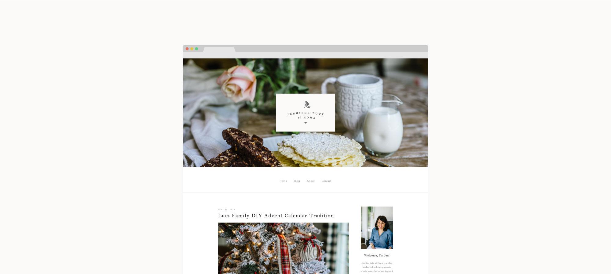 Jennifer Lutz at Home Custom Brand and Web Design by Viola Hill Studio