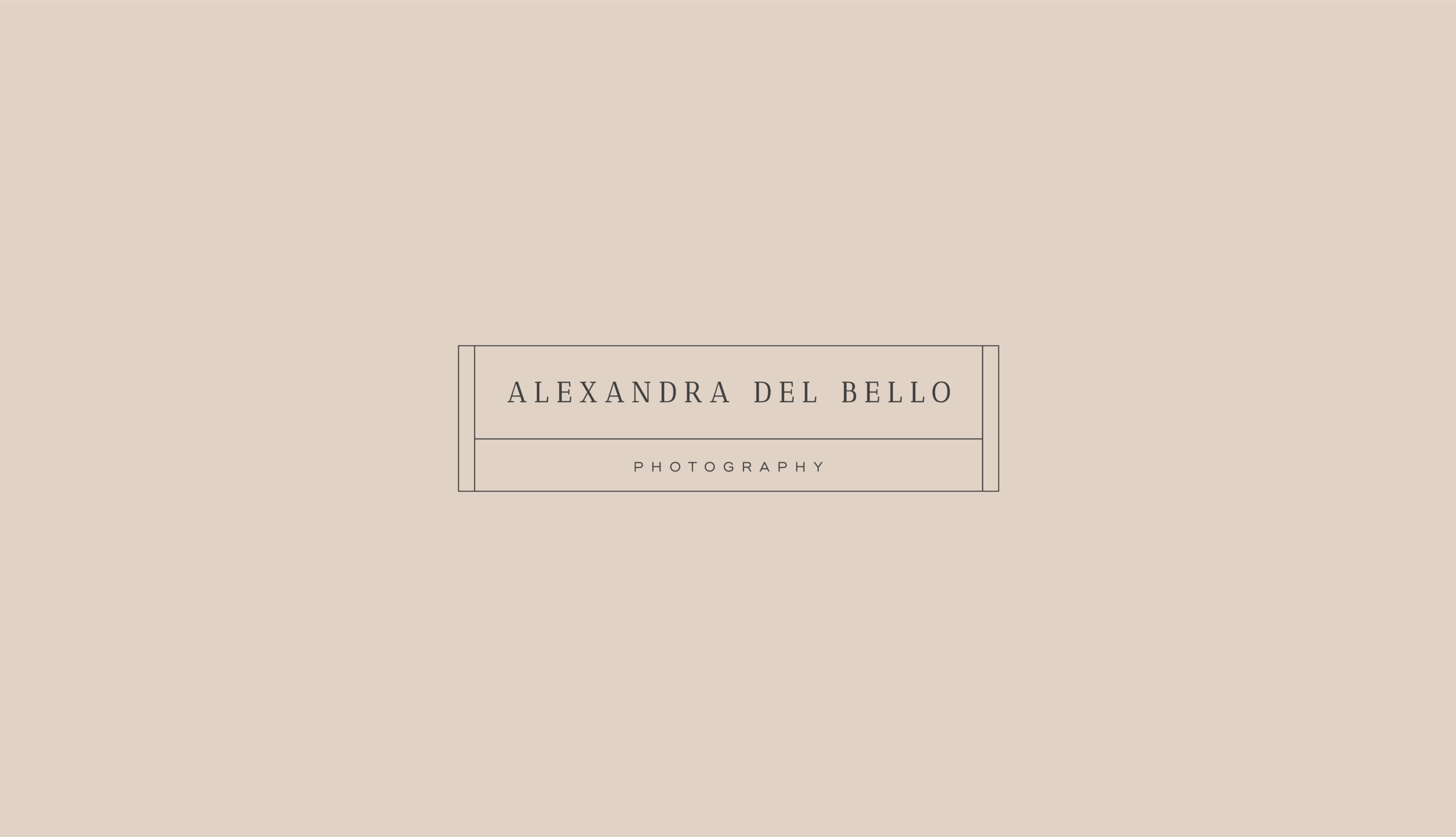 Custom Brand Design for Alexandra Del Bello Photography by Viola Hill Studio