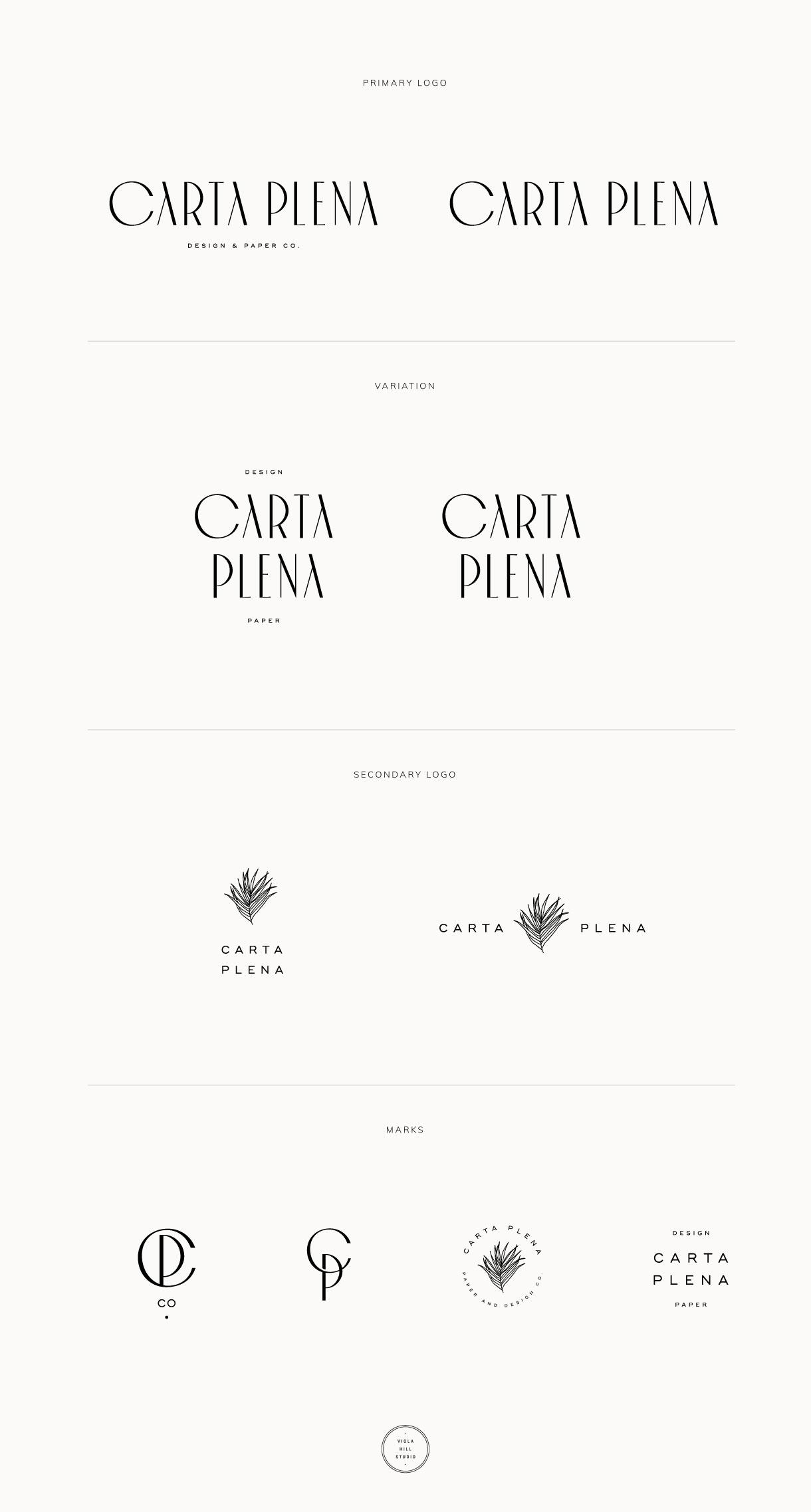 Carta Plena Custom Brand Design by Viola Hill Studio