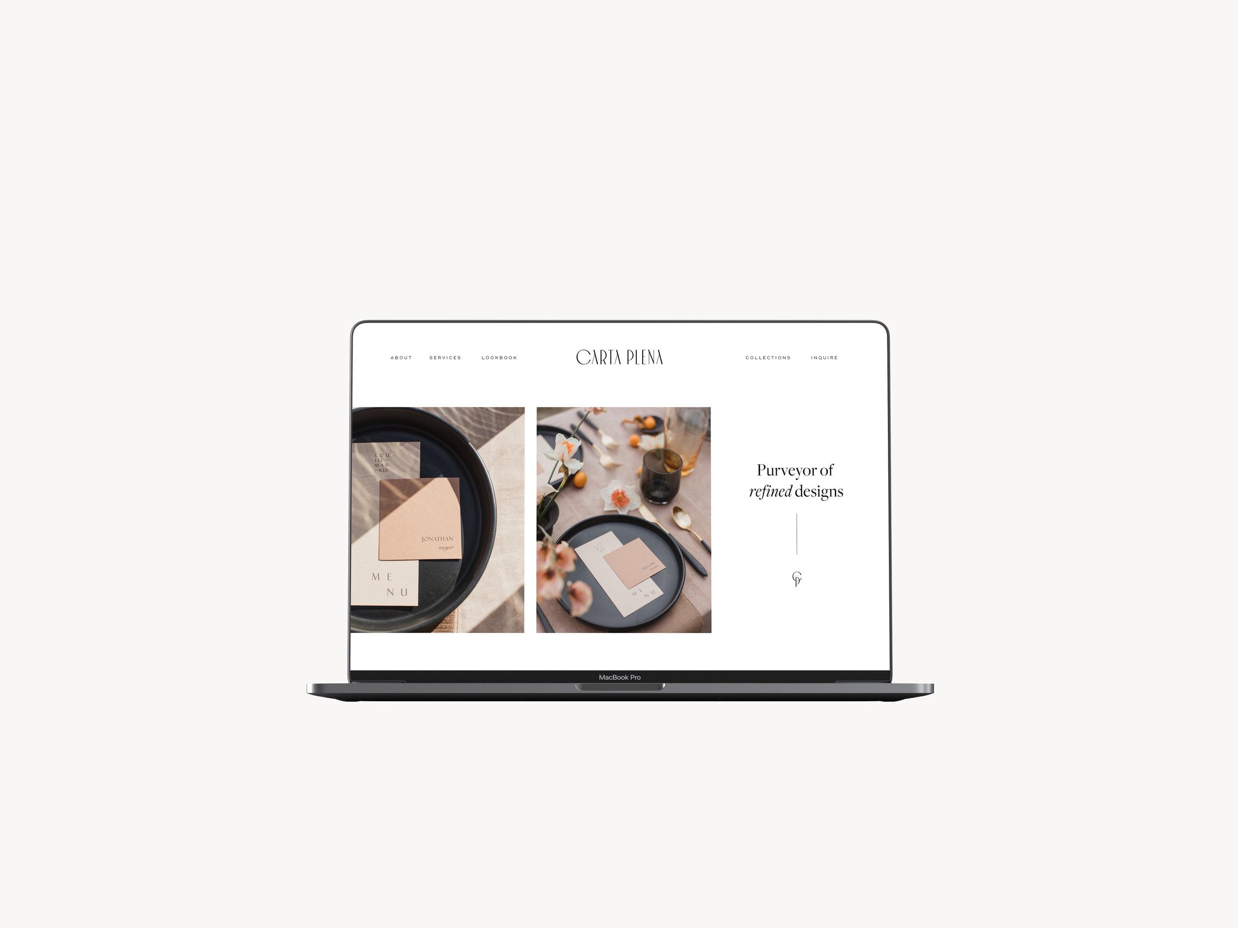 Custom Web Design Carta Plena by Viola Hill Studio