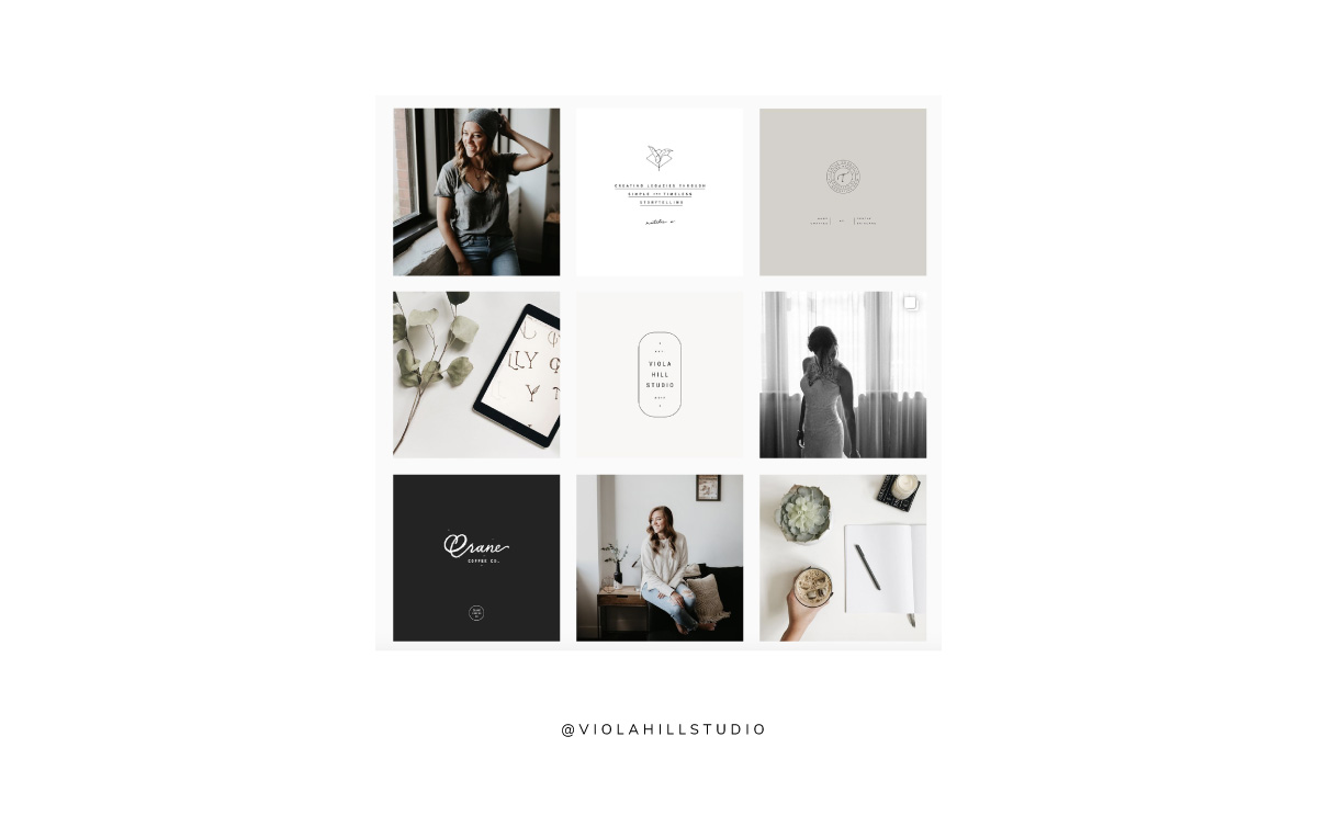 How to align your brand with your Instagram feed  |   curated Instgram feed   |   Viola Hill Studio
