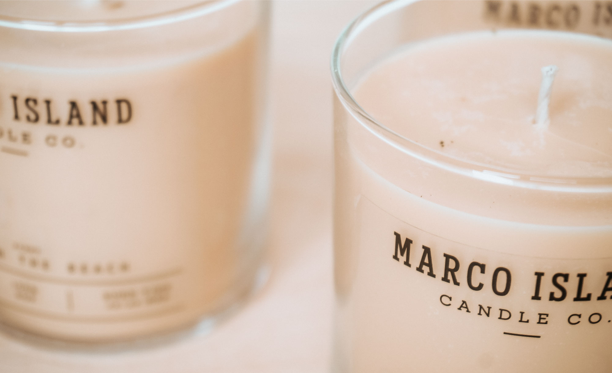 Marco Island Candle Co. Brand and Packaging Design by Viola Hill Studio