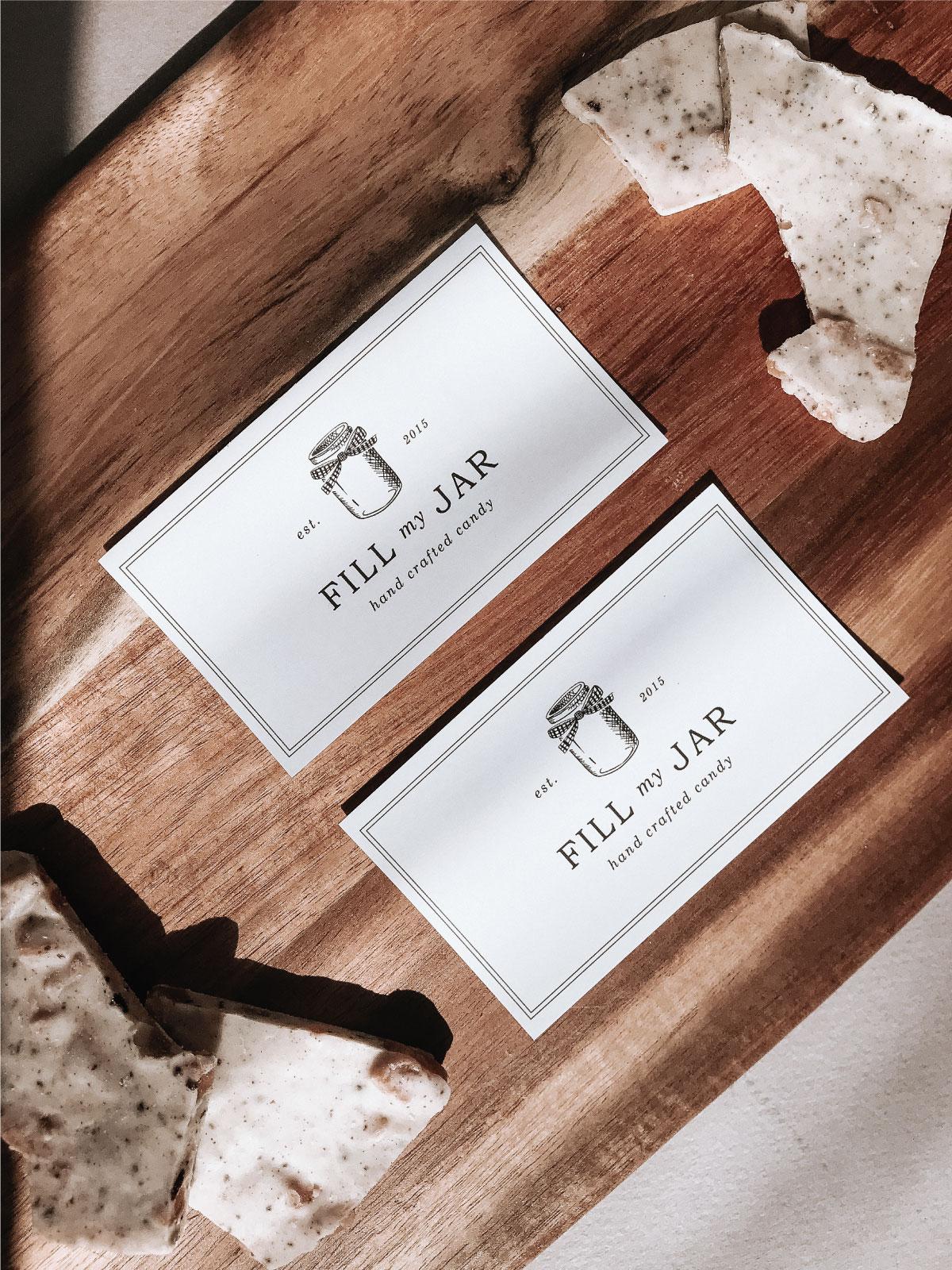 Fill My Jar Custom Brand Design By Viola Hill Studio