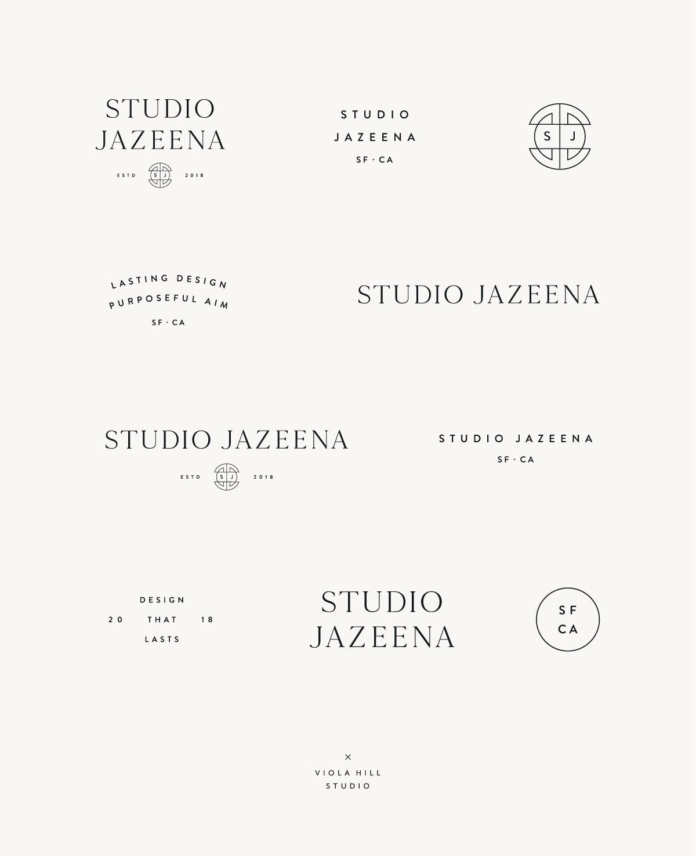 Studio Jazeena Brand and Web Design by Viola Hill Studio