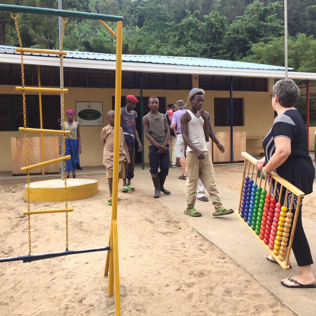 Bringing in teaching supplies