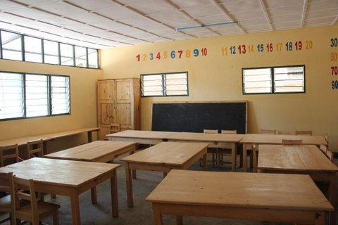 The finished classroom!
