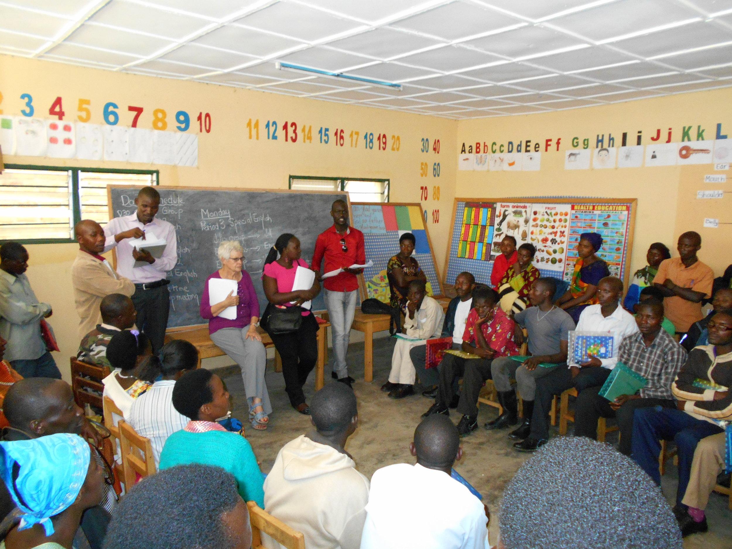 Teacher training class