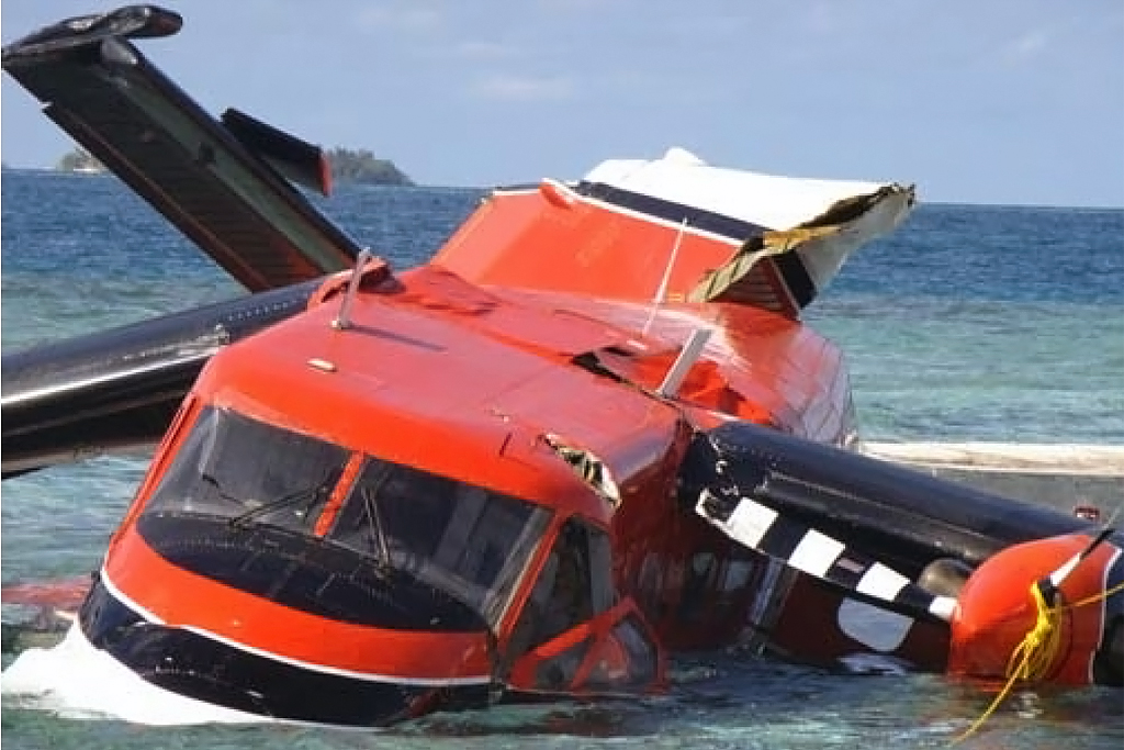 Maldivian CAA Photo © Kuredu 02-Jun-2009   There were no fatalities as a result of this accident. TwinOtterWorld does not, under normal circumstances publish accident photos where there has been loss of life.
