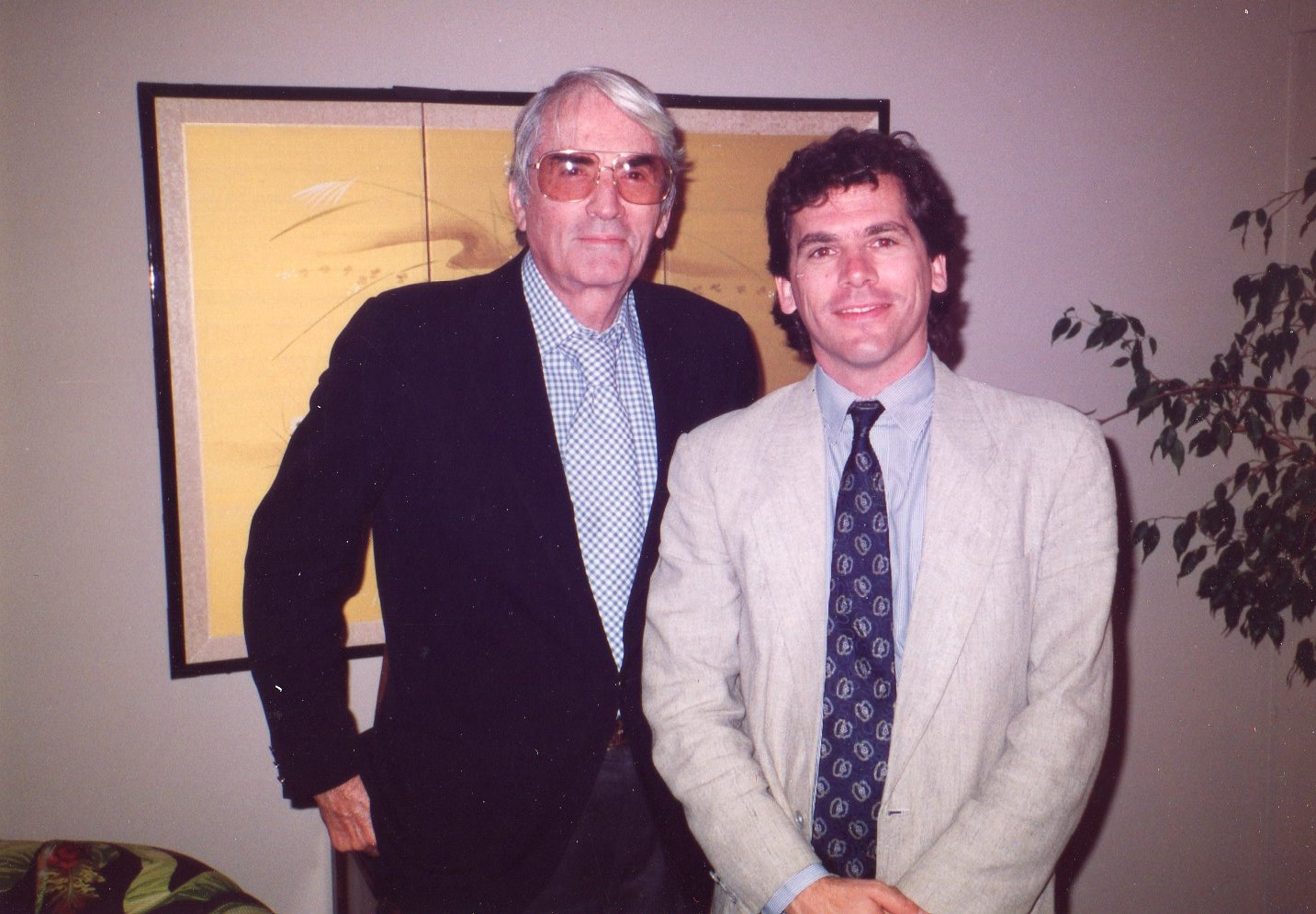 Gregory Peck and Edward Guthmann, 1989