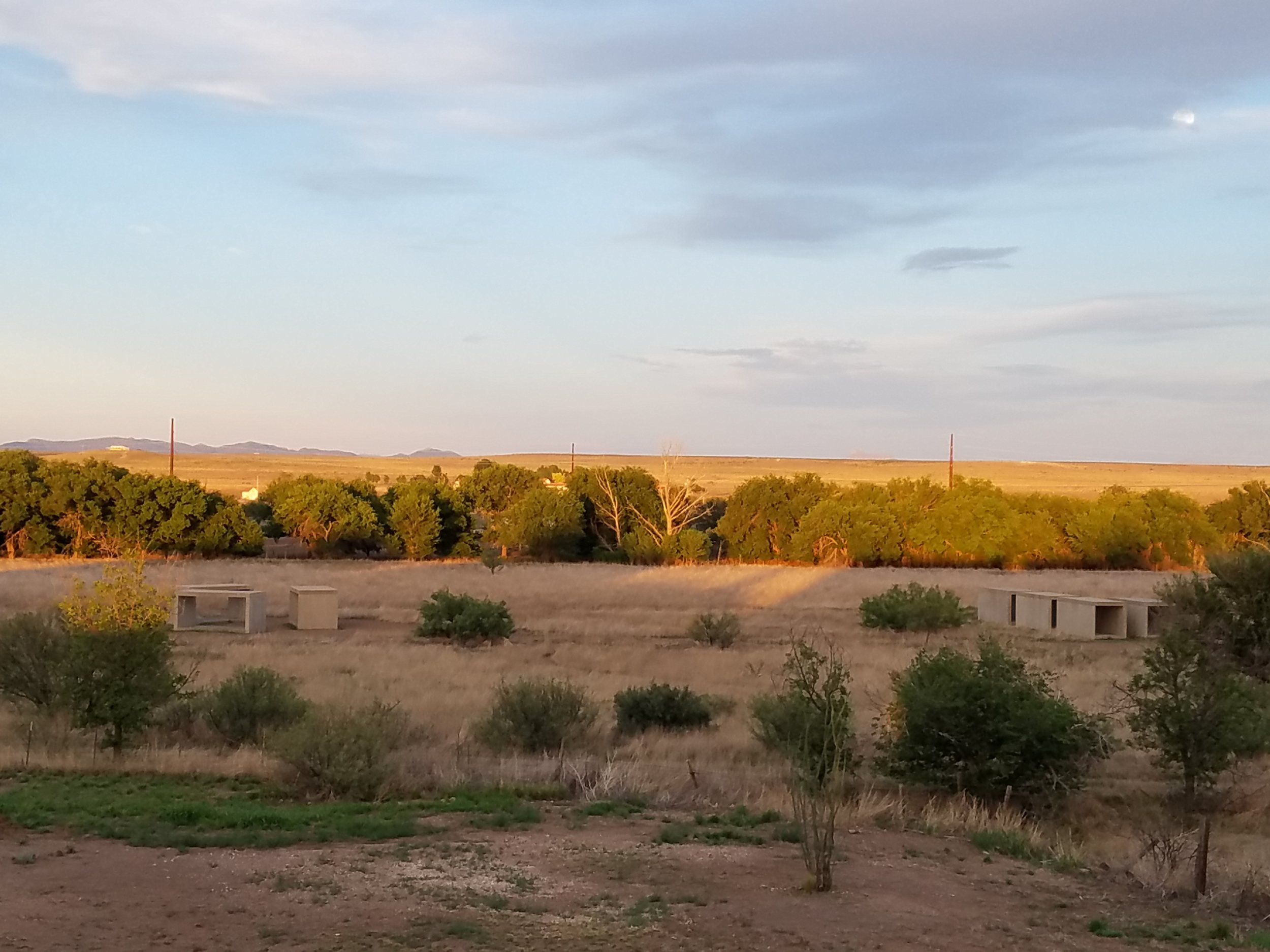 Golden hour. Taken at the Marfa, Texas home of musician Fran Christina and his artist wife Julie Speed. They live next to the Chinati Foundation, which was established by the late artist Donald Judd.