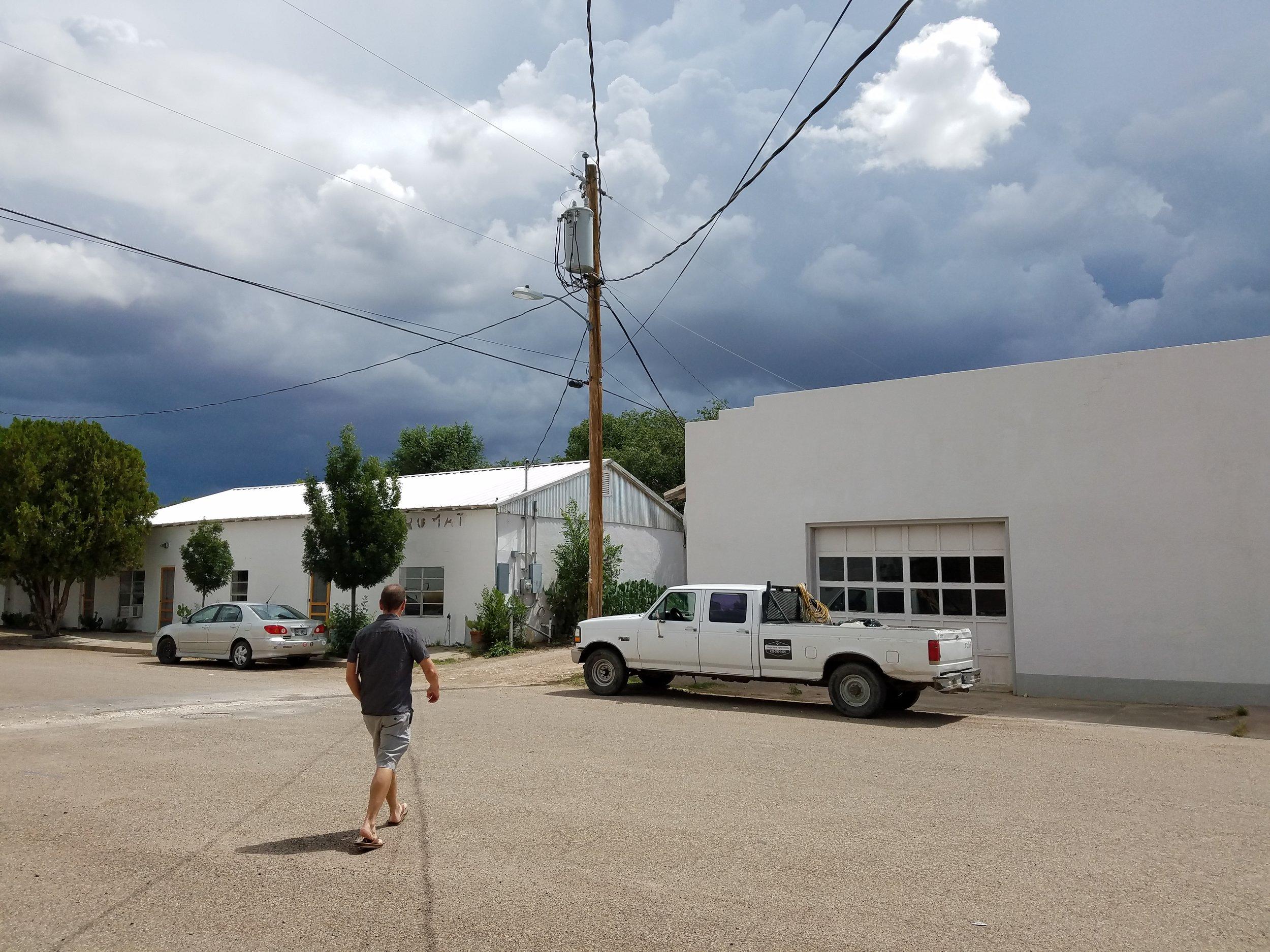 Rain clouds approaching Marfa.