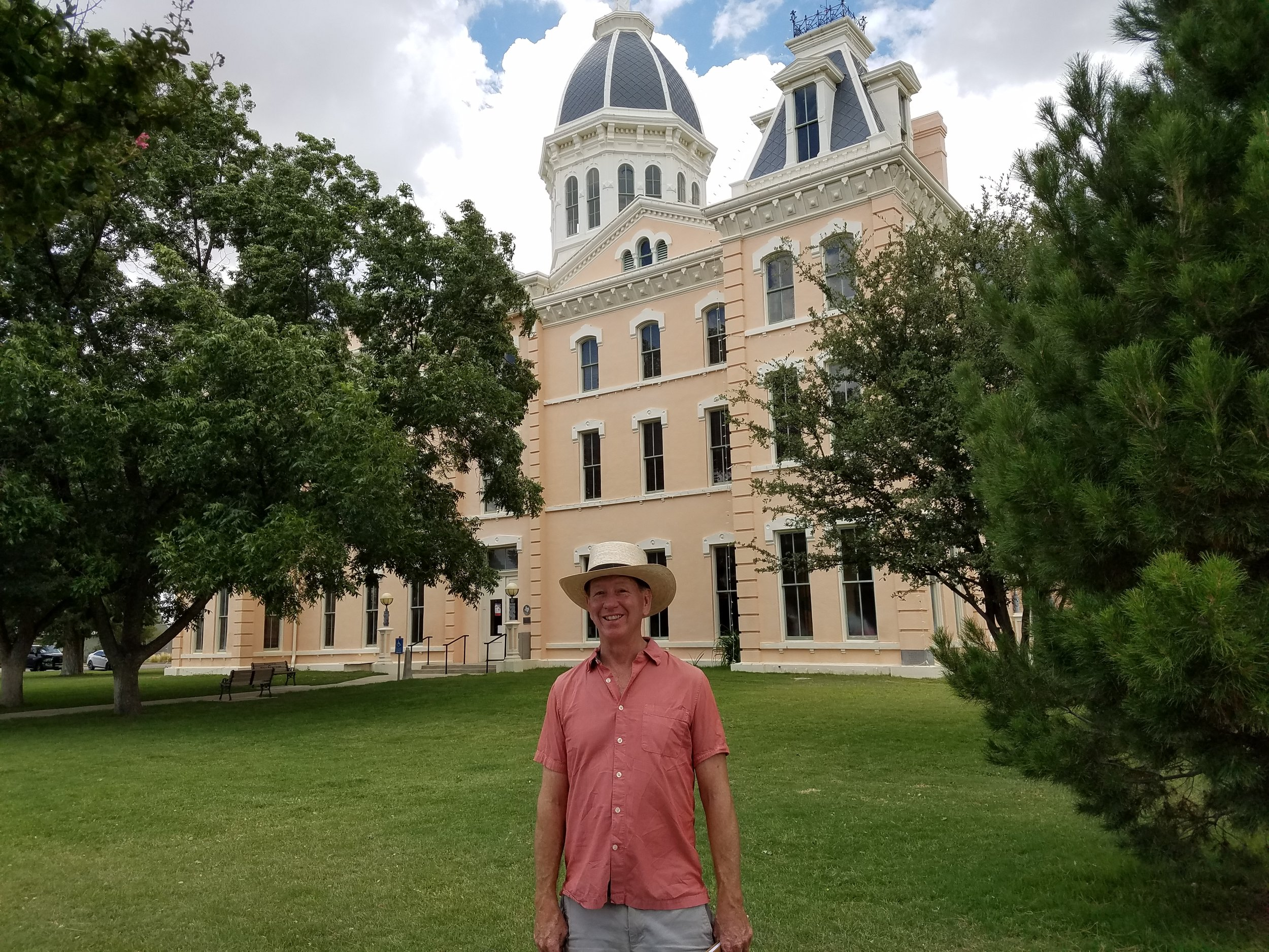 My friend Don Seaver at the Marfa court house