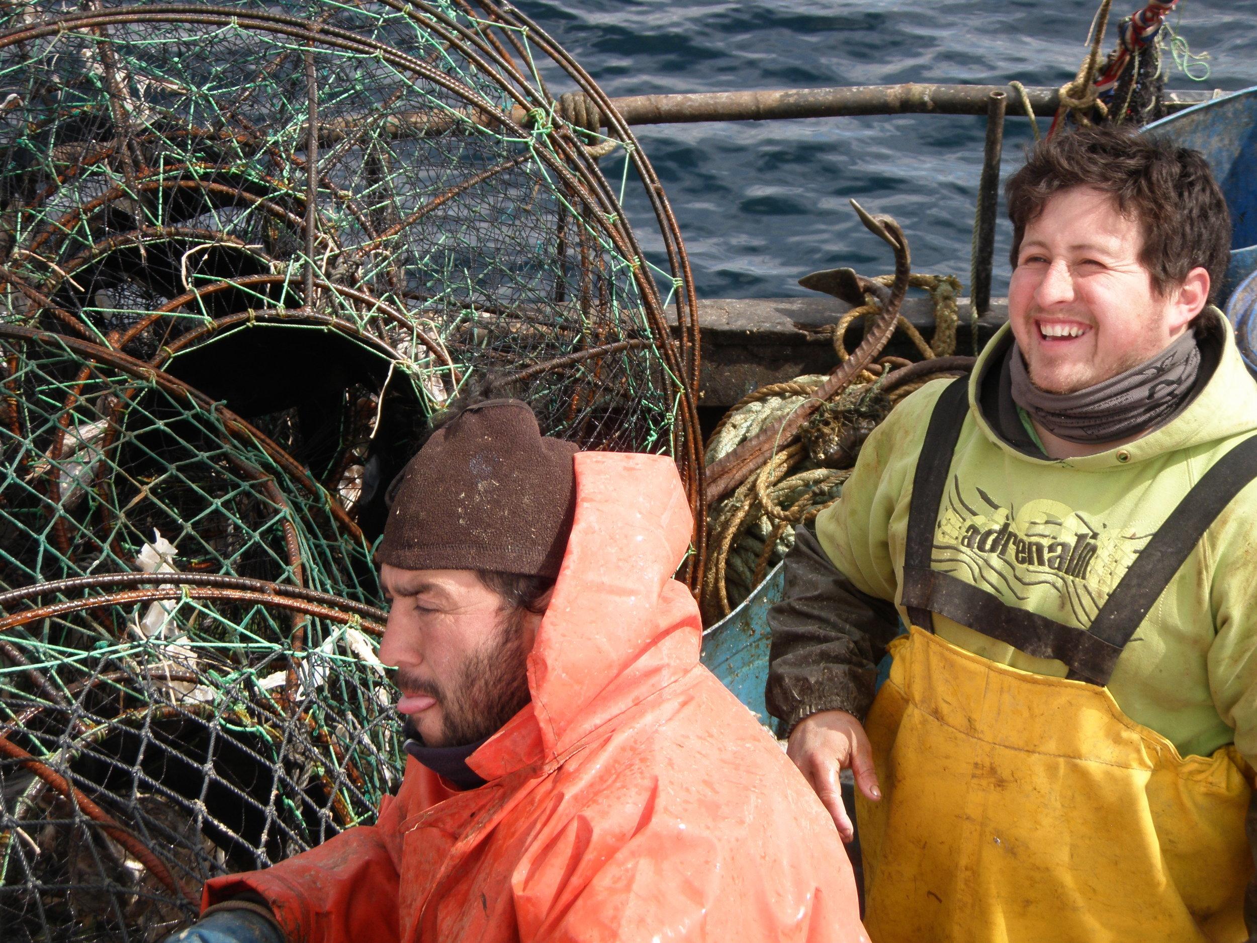 Fishermen in Beagle Channel.