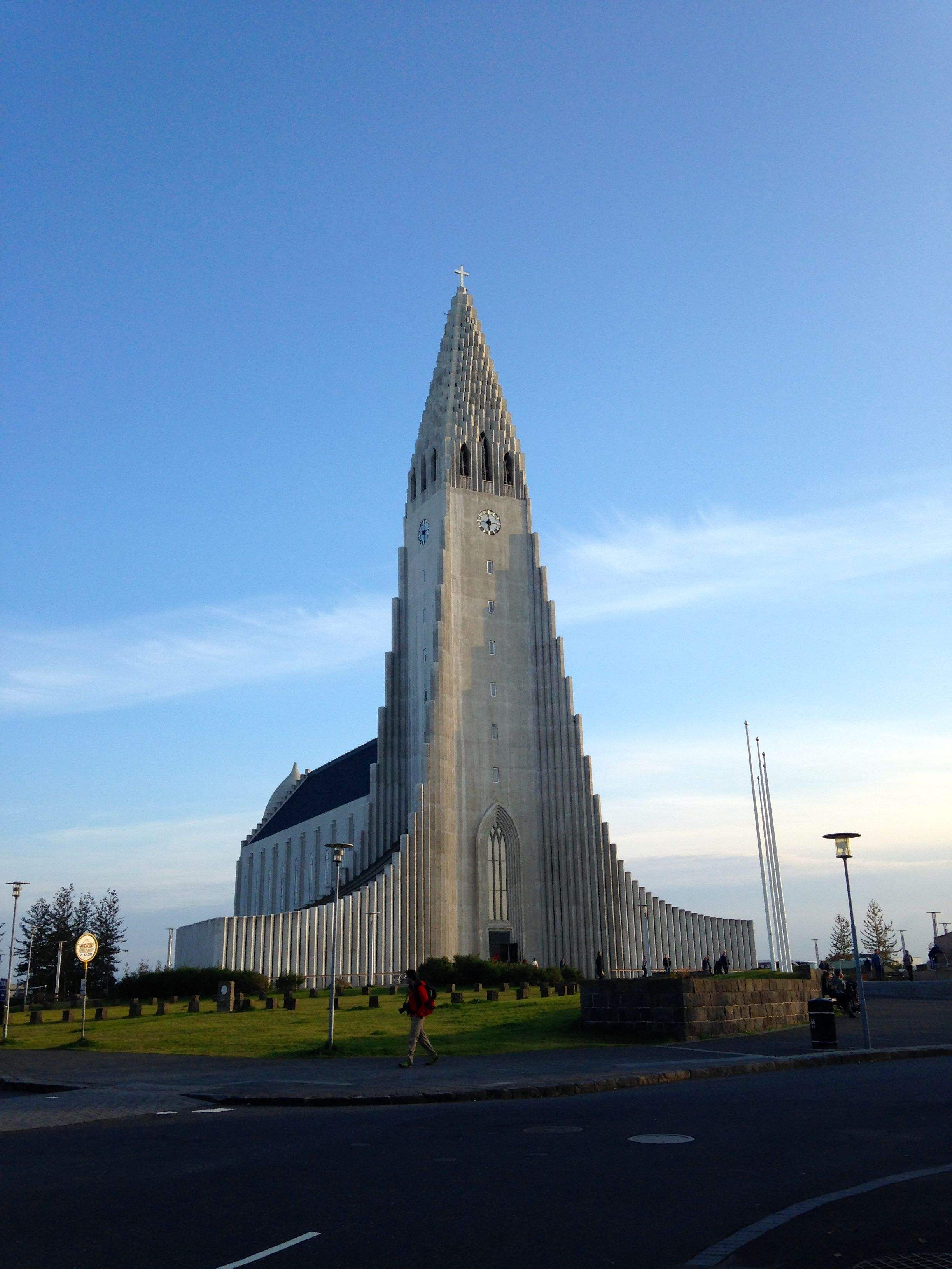 Reykjavik, Iceland. Hallgrímskirkja is a Lutheran parish church, is the largest church in Iceland and among the tallest structures in Iceland.