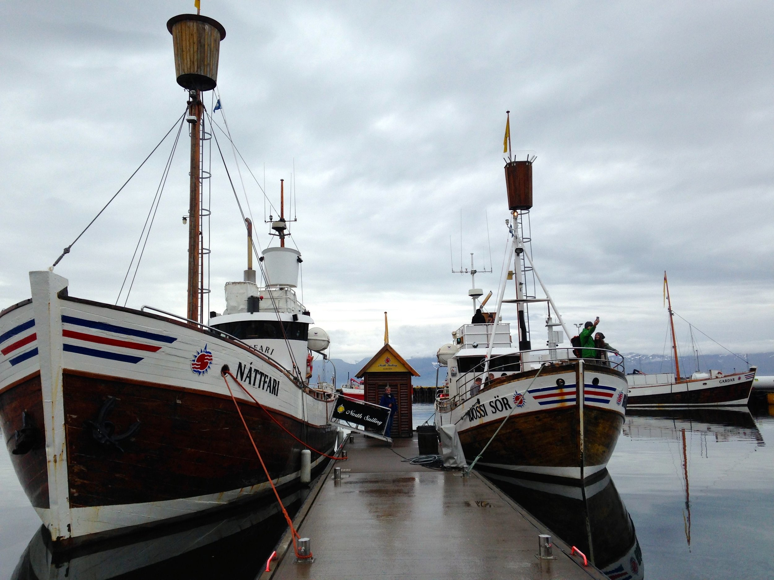 Husavik, Iceland. We went whale-watching in the boat on the right.