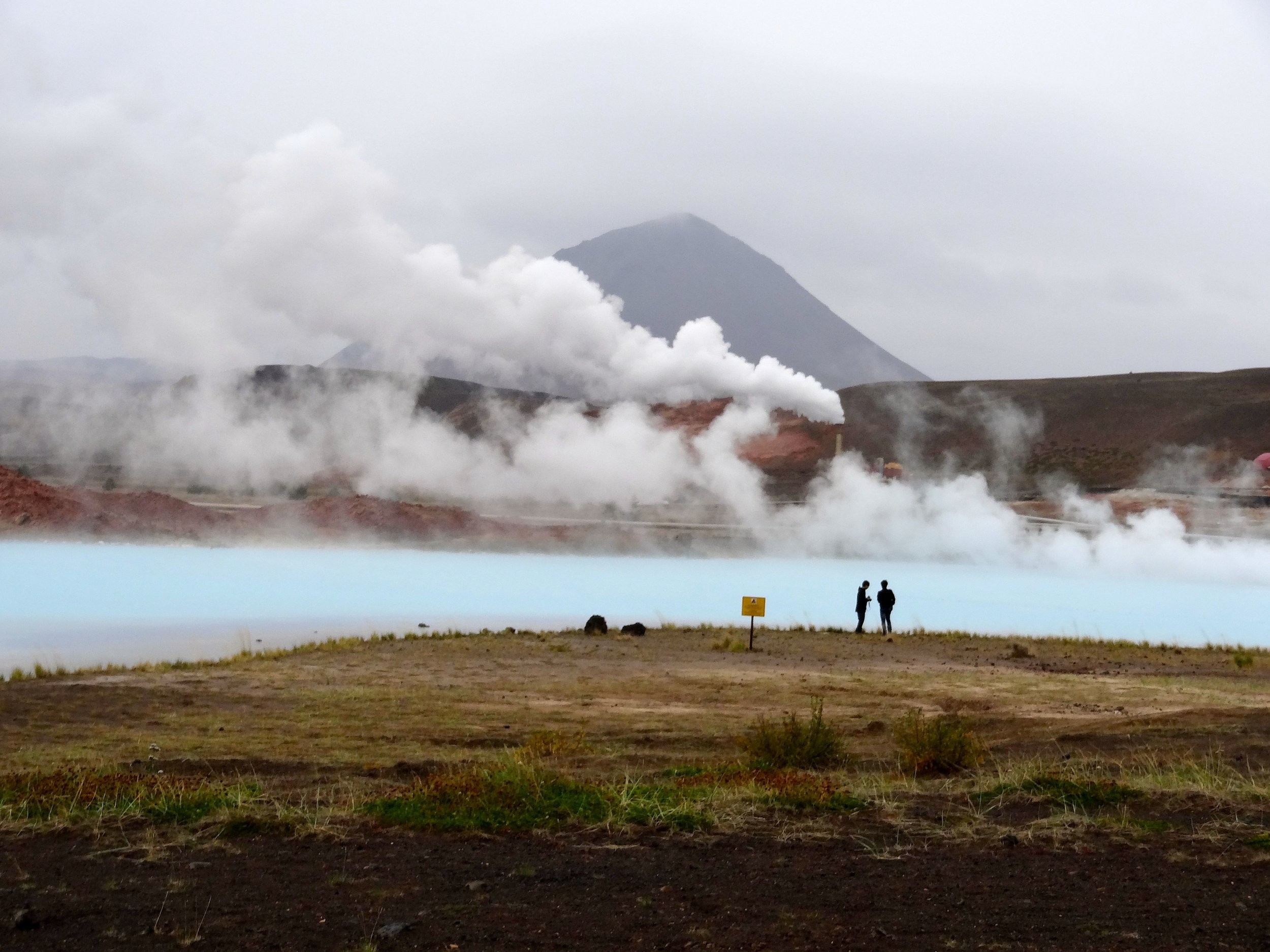 Geothermal steam at Lake Mytvan, Iceland.