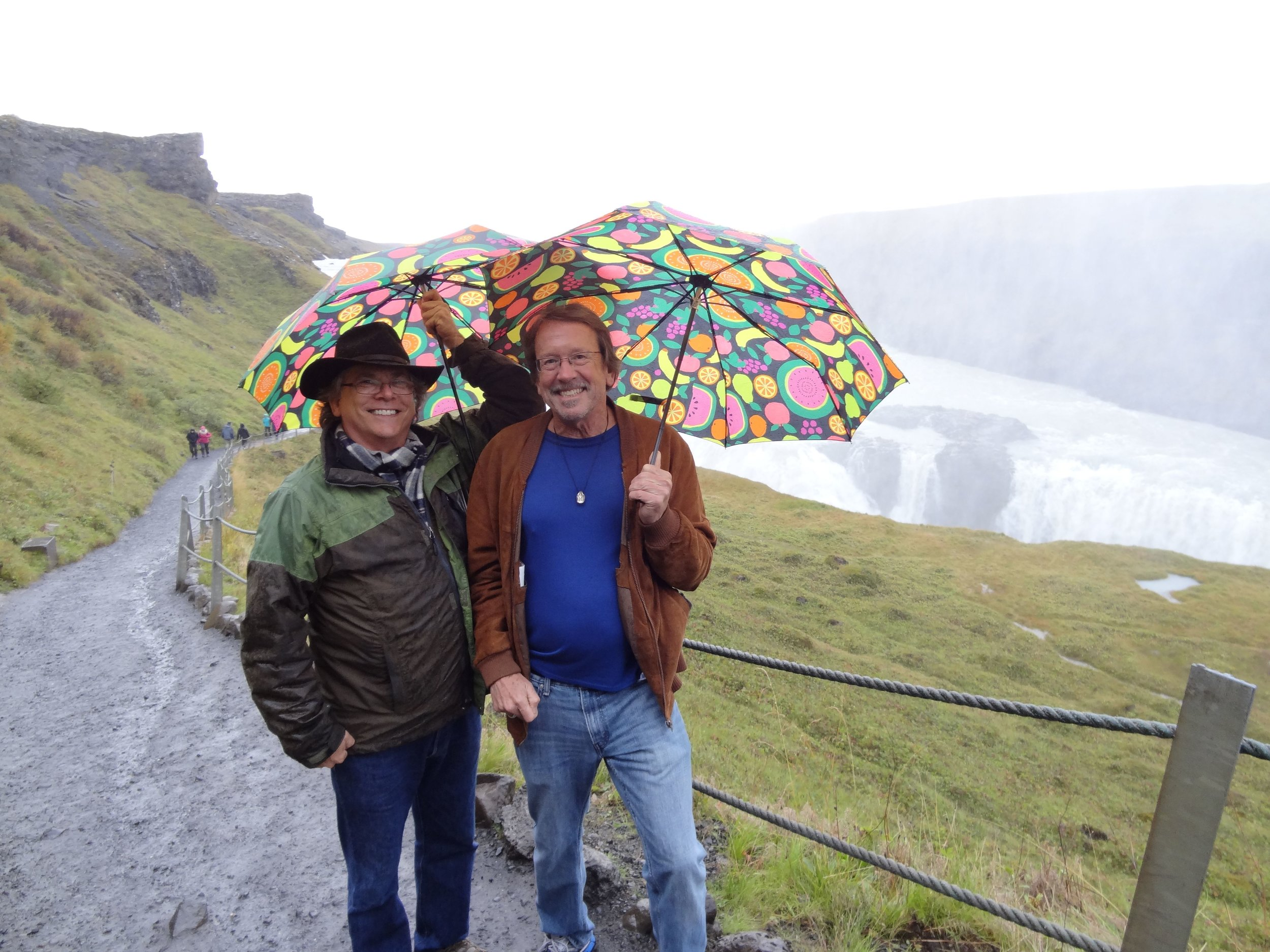 With Stephen Silha at Gulfoss (Golden Falls), an enormous waterfall located in the canyon of the Hvítá river in southwest Iceland.
