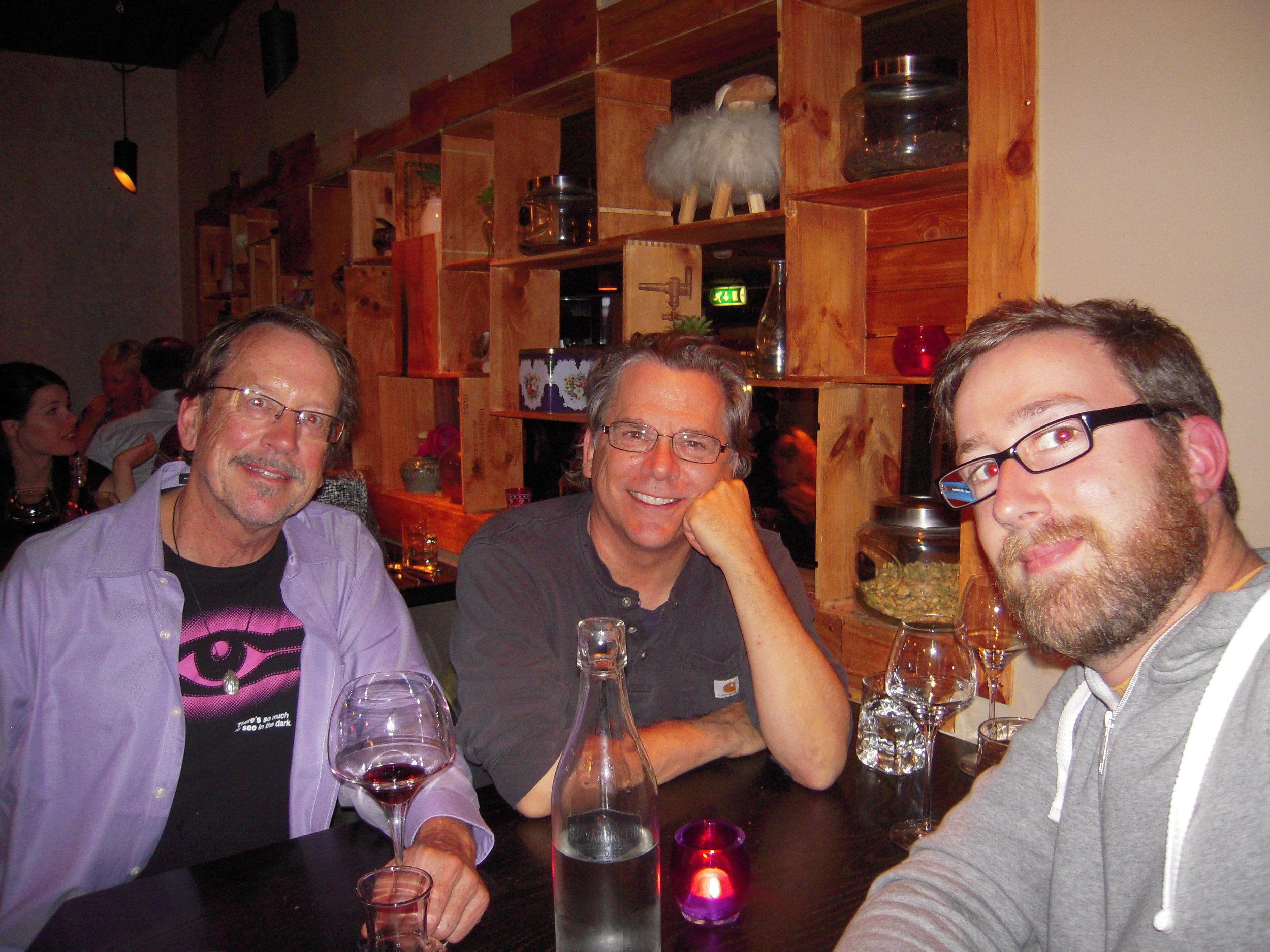 Dinner in Reykjavik with Harald Scaller, a German living in Iceland.