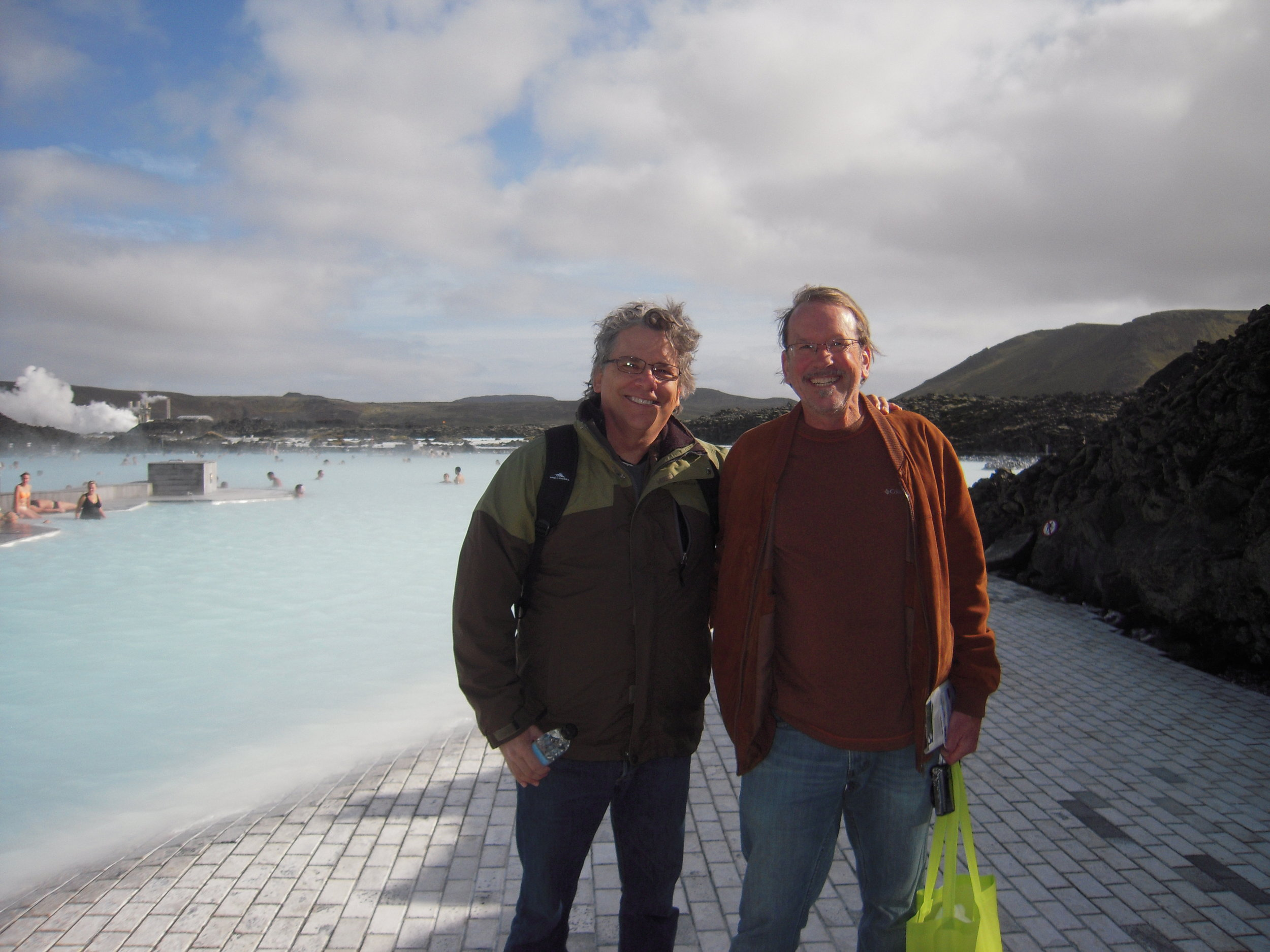 At the Blue Lagoon south of Reykjavik, Iceland. The water is rich in silica and sulfur and other minerals.