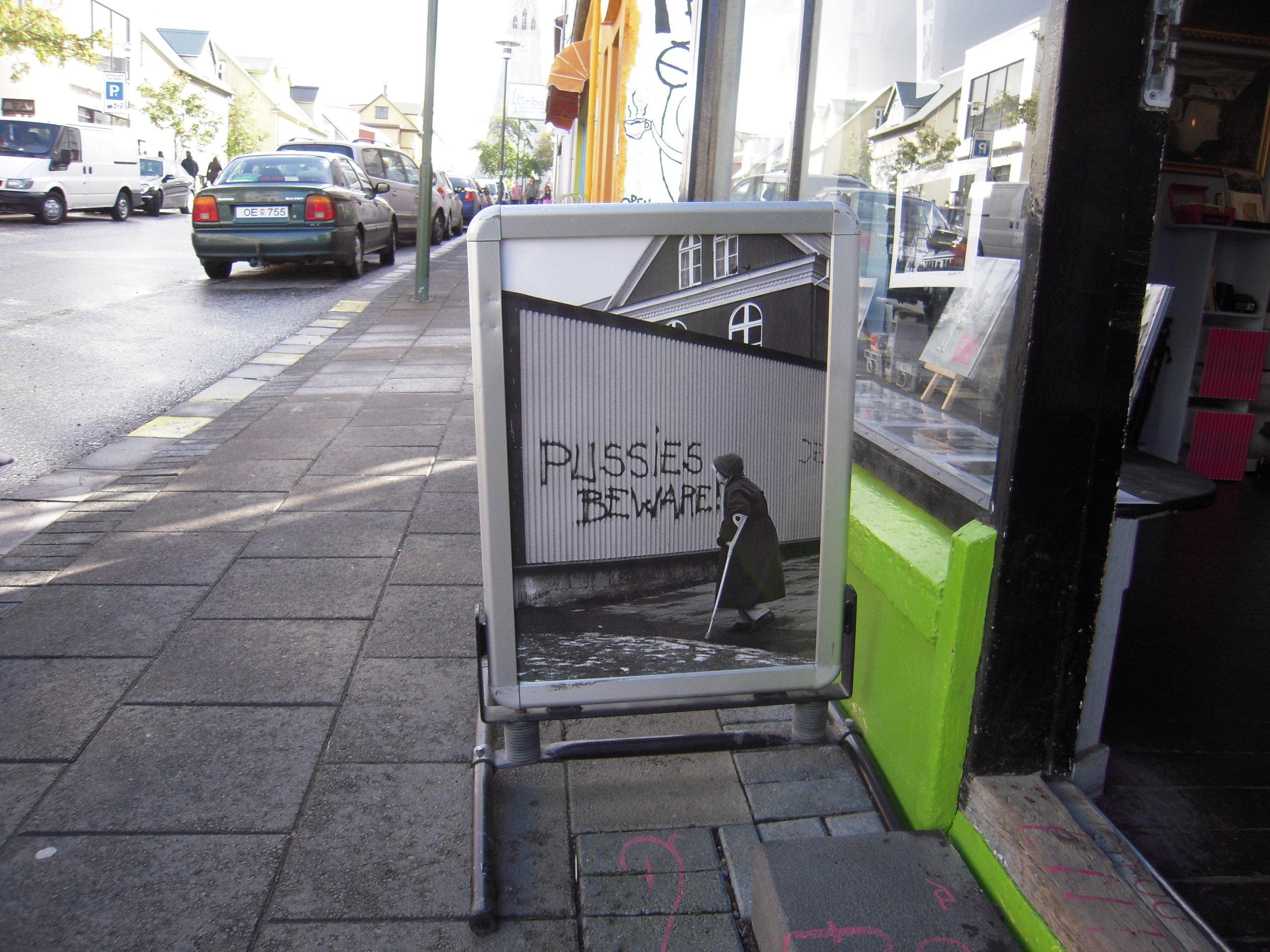 Street sign in Reykjavik.