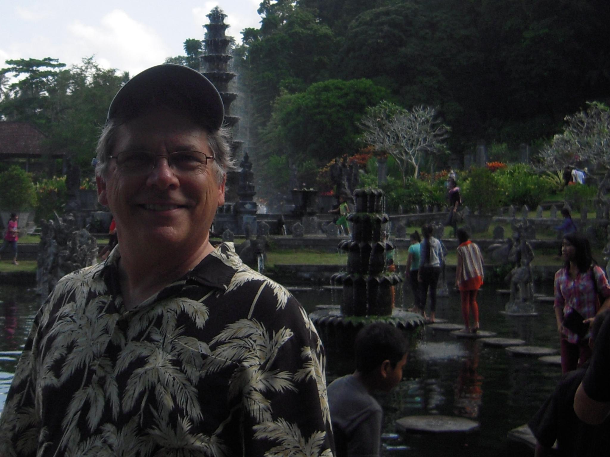 BALI 2014. EG at Tirta Gangga water palace.JPG