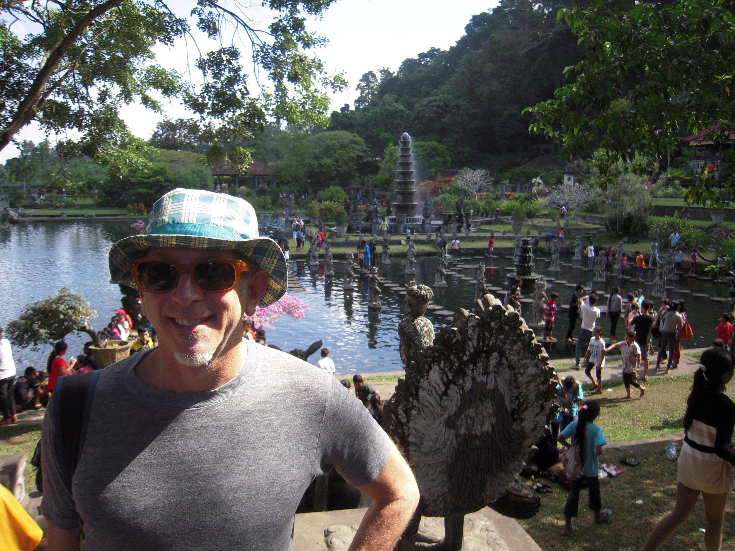 BALI 2014. Steve at Tirta Gangga water palace.JPG