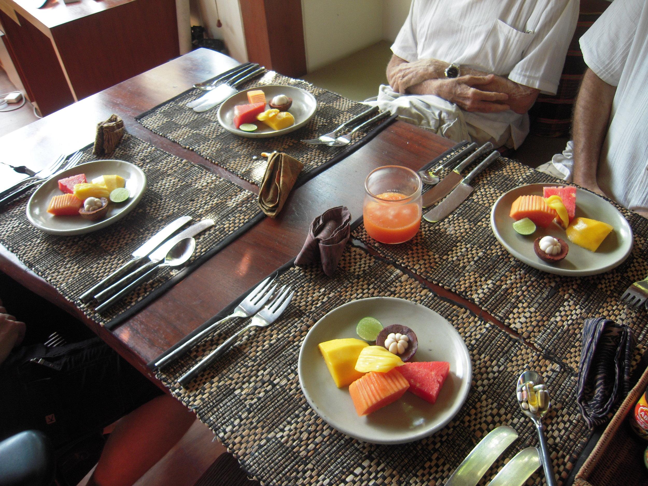 BALI 2014. Tropical fruit breakfast at Joel Singer's house.JPG