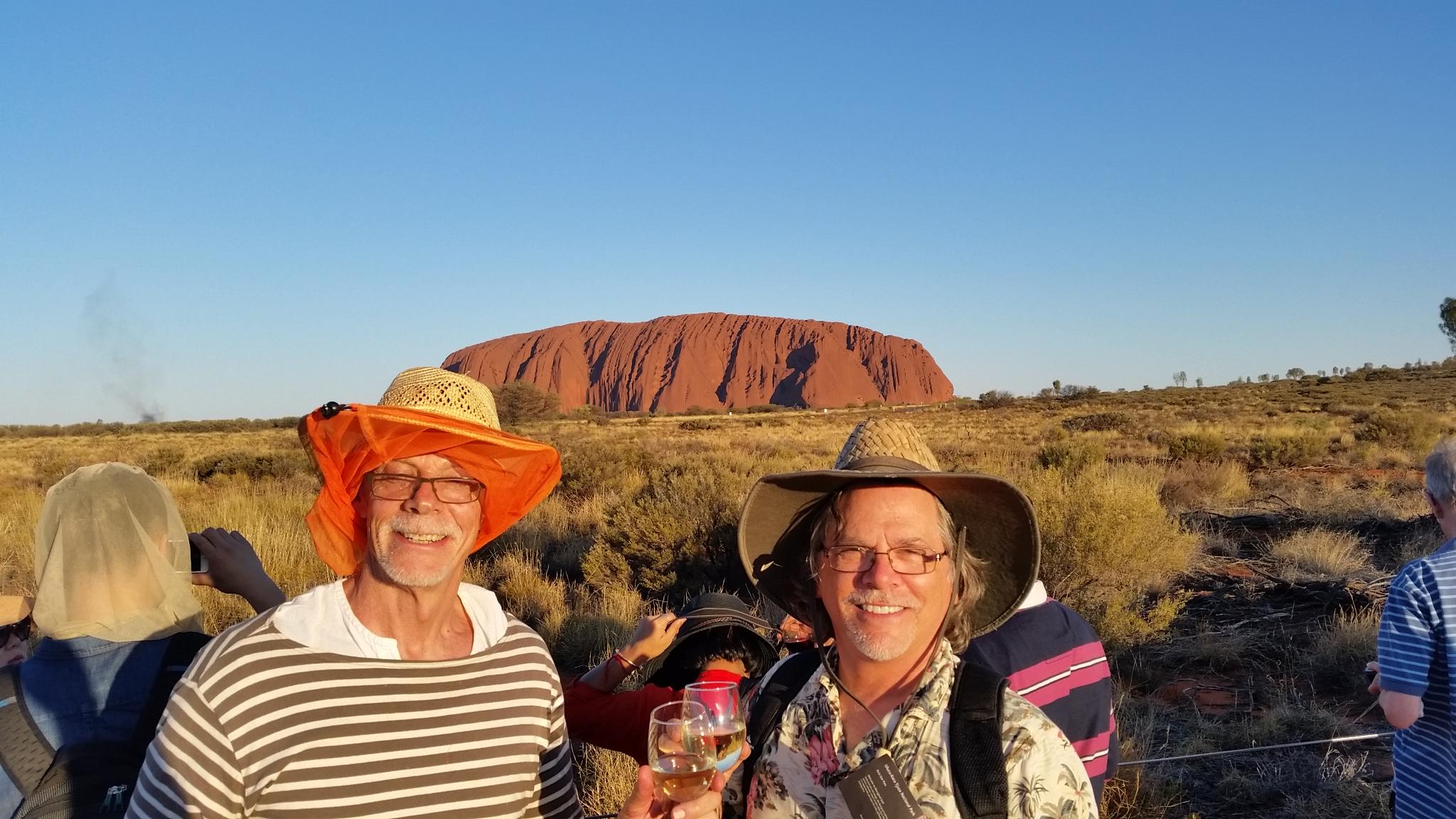 Uluru (Ayers Rock) at sunset. Arthur and Edward.jpg