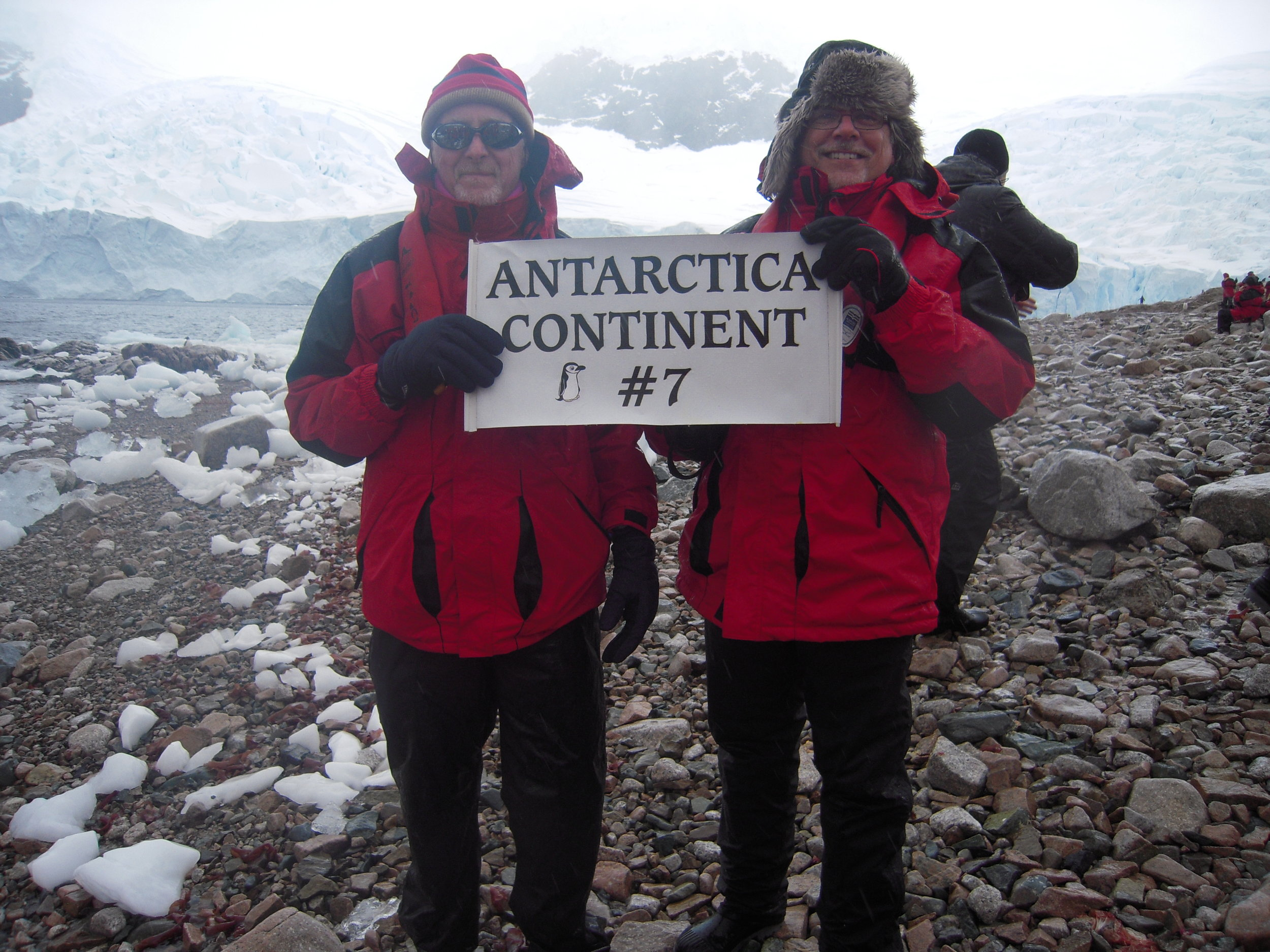 By visiting Antarctica, several people on the tour were able to say they'd been to all 7 continents. Including me.