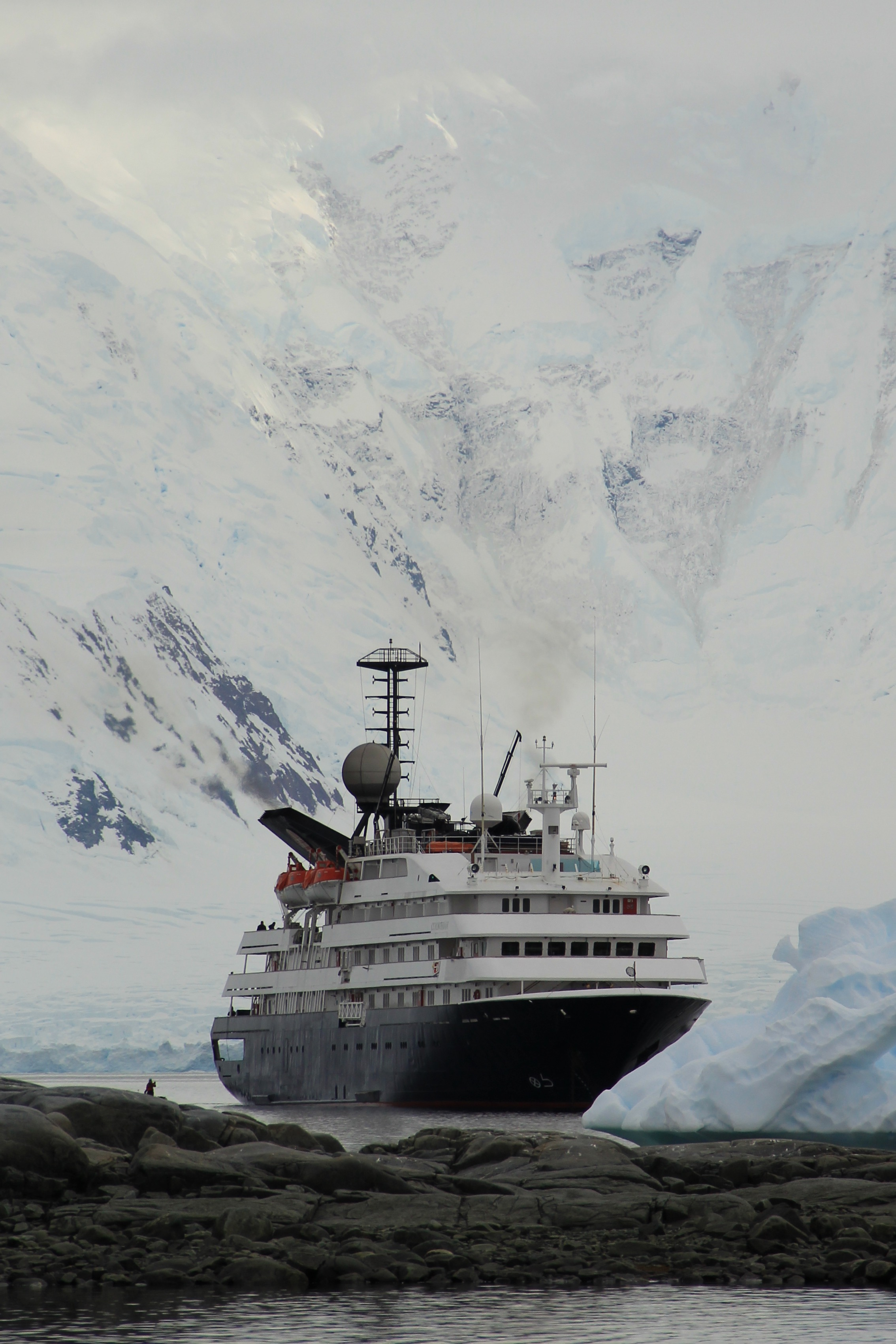 Our ship, the Corinthian. It takes 48 hours to sail from Tierra del Fuego, Argentina, to the northern edge of the Antarctic Peninsula.